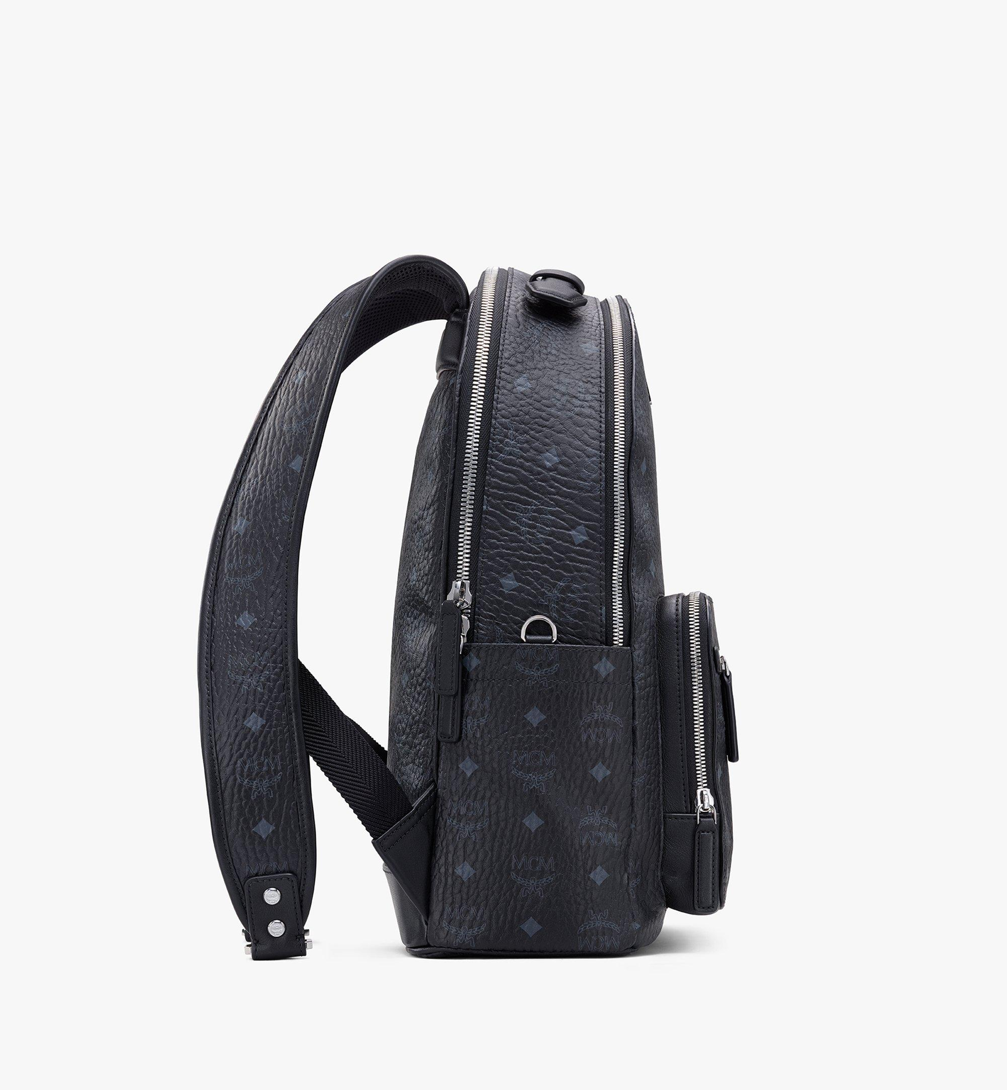 MCM Stark Backpack in Visetos Black MMKASVE10BK001 Alternate View 1