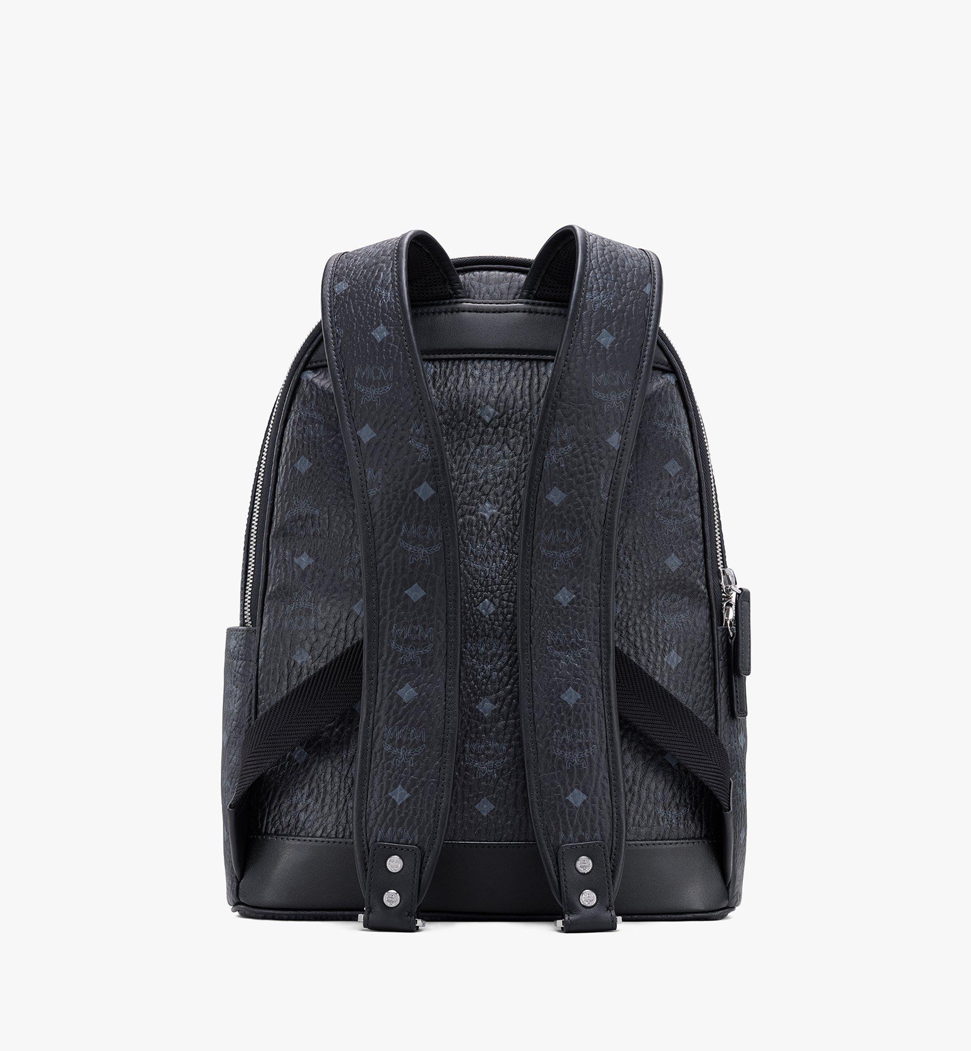 MCM Stark Backpack in Visetos Black MMKASVE10BK001 Alternate View 2