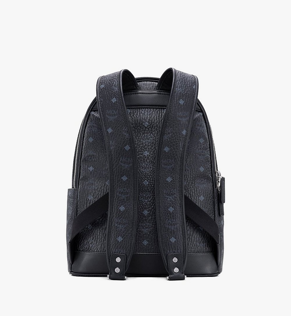MCM Stark Backpack in Visetos Black MMKASVE10BK001 Alternate View 2