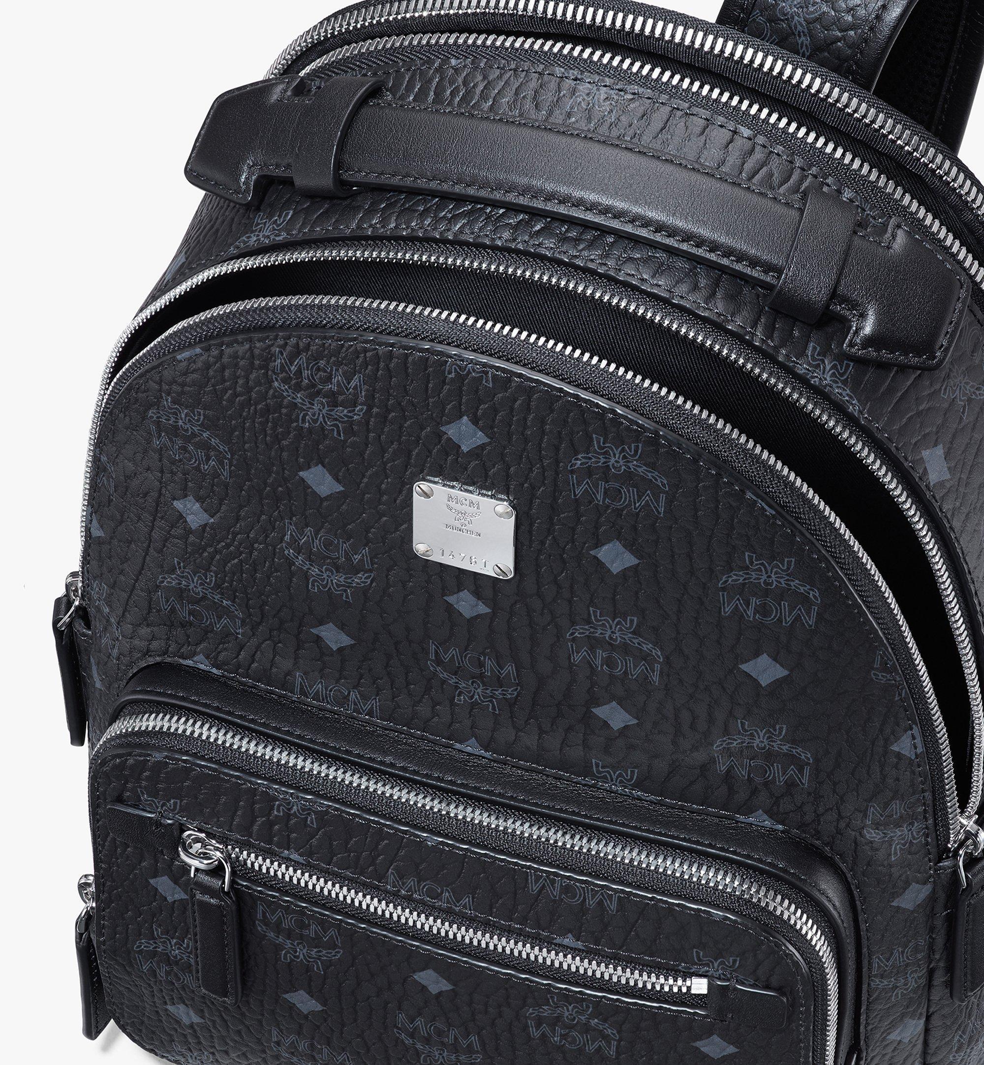 MCM Stark Backpack in Visetos Black MMKASVE10BK001 Alternate View 4