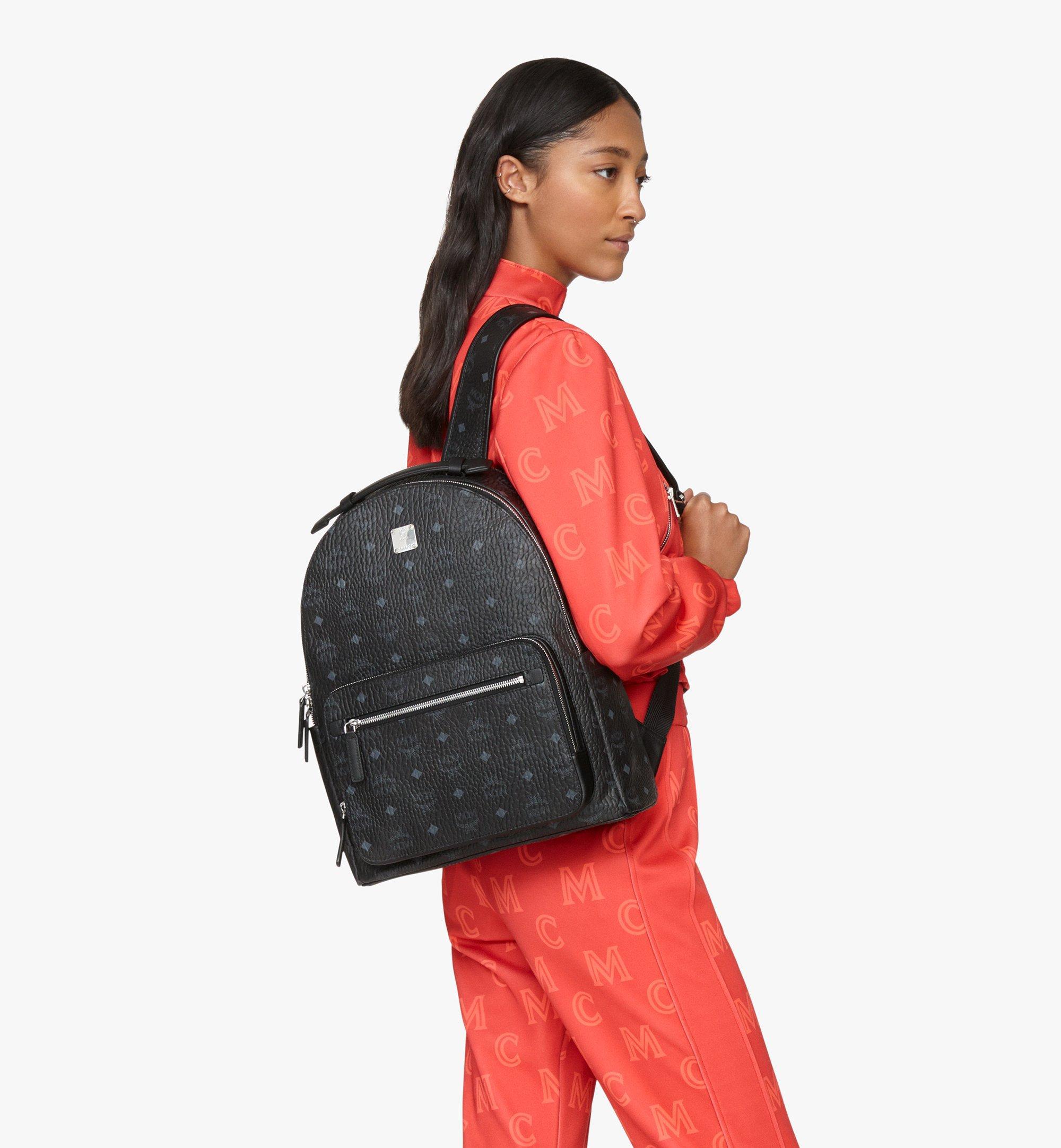 MCM Stark Backpack in Visetos Black MMKASVE10BK001 Alternate View 6