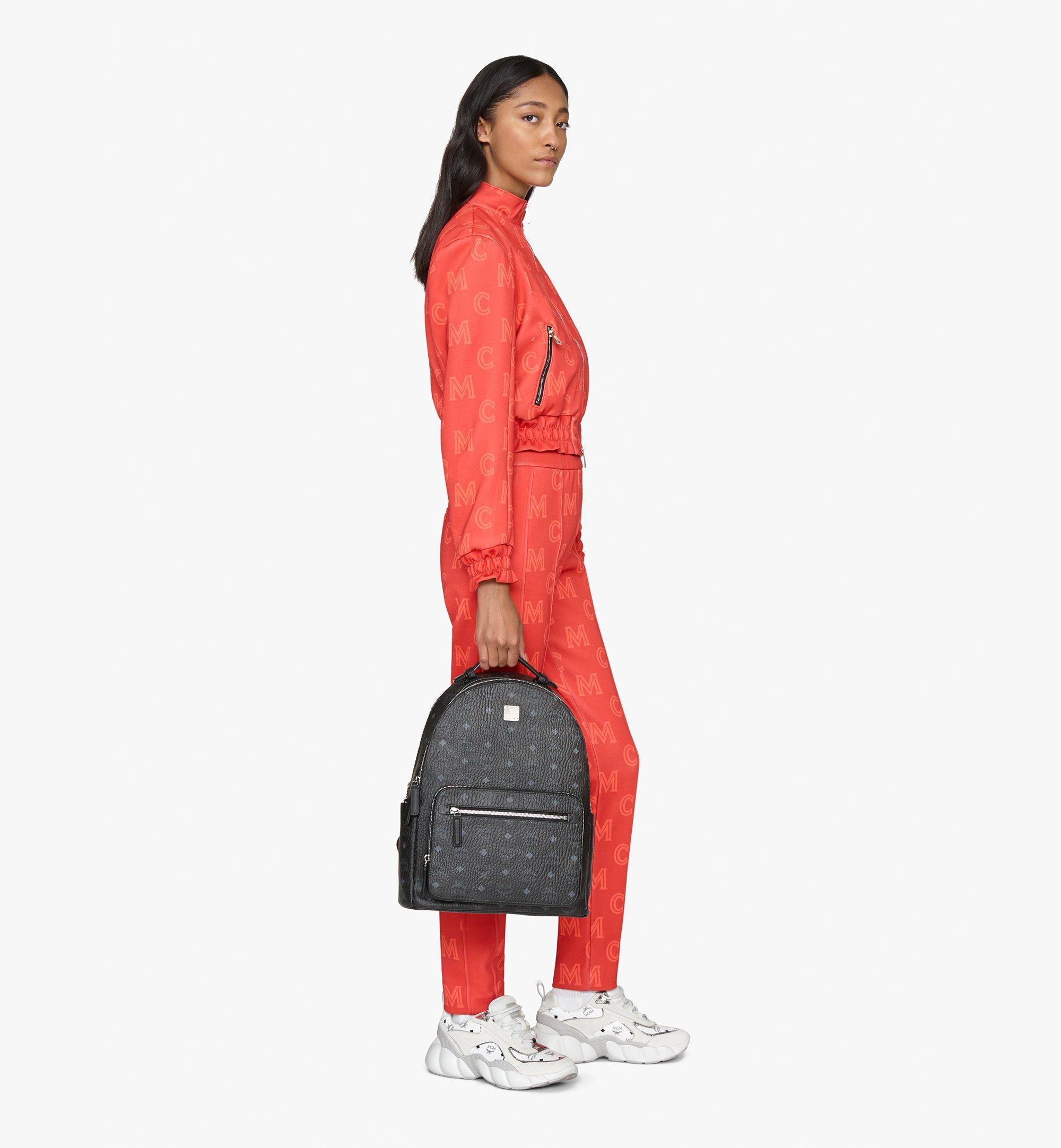 MCM Stark Backpack in Visetos Black MMKASVE10BK001 Alternate View 7