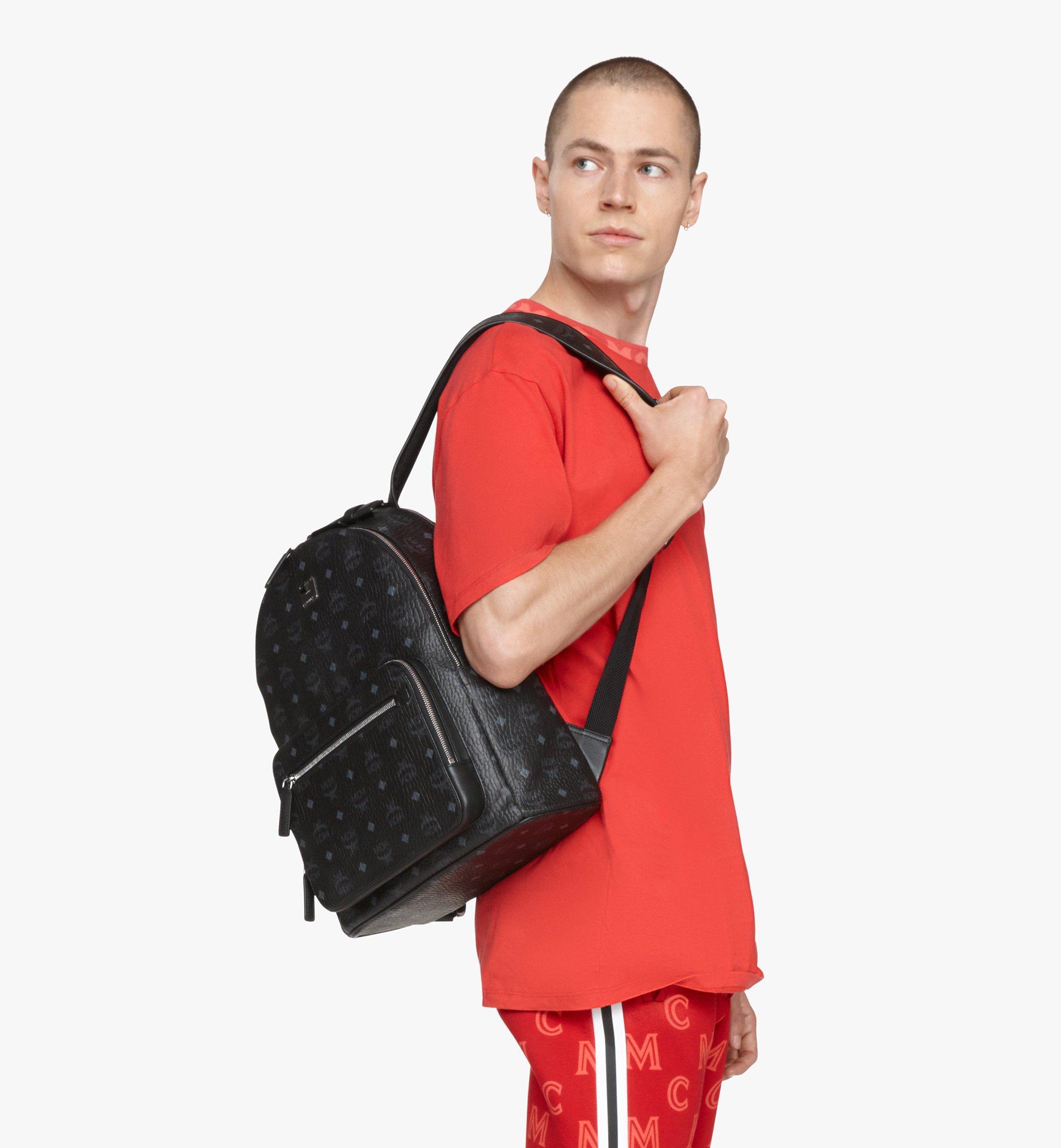 MCM Stark Backpack in Visetos Black MMKASVE10BK001 Alternate View 8