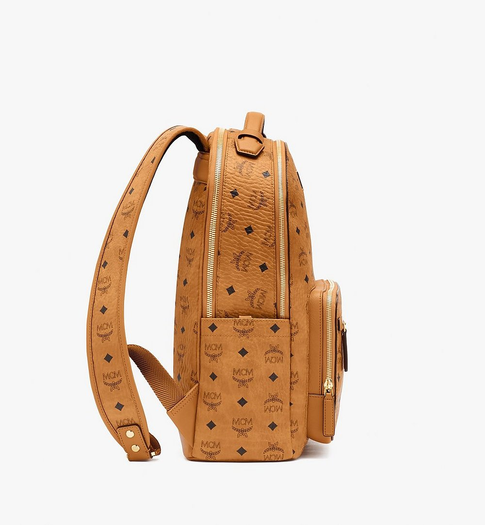MCM Stark Backpack in Visetos Cognac MMKASVE10CO001 Alternate View 1