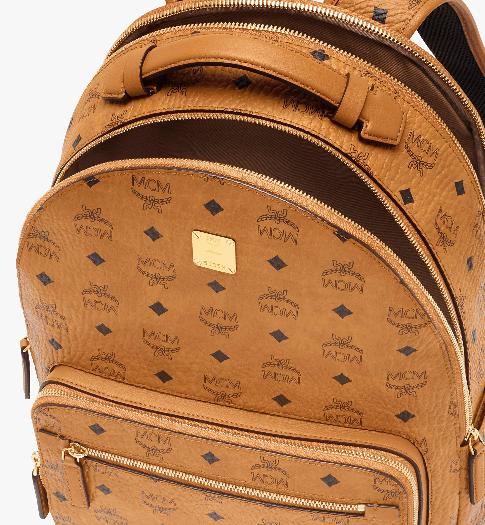 MCM Stark Backpack in Visetos Cognac MMKASVE10CO001 Alternate View 4