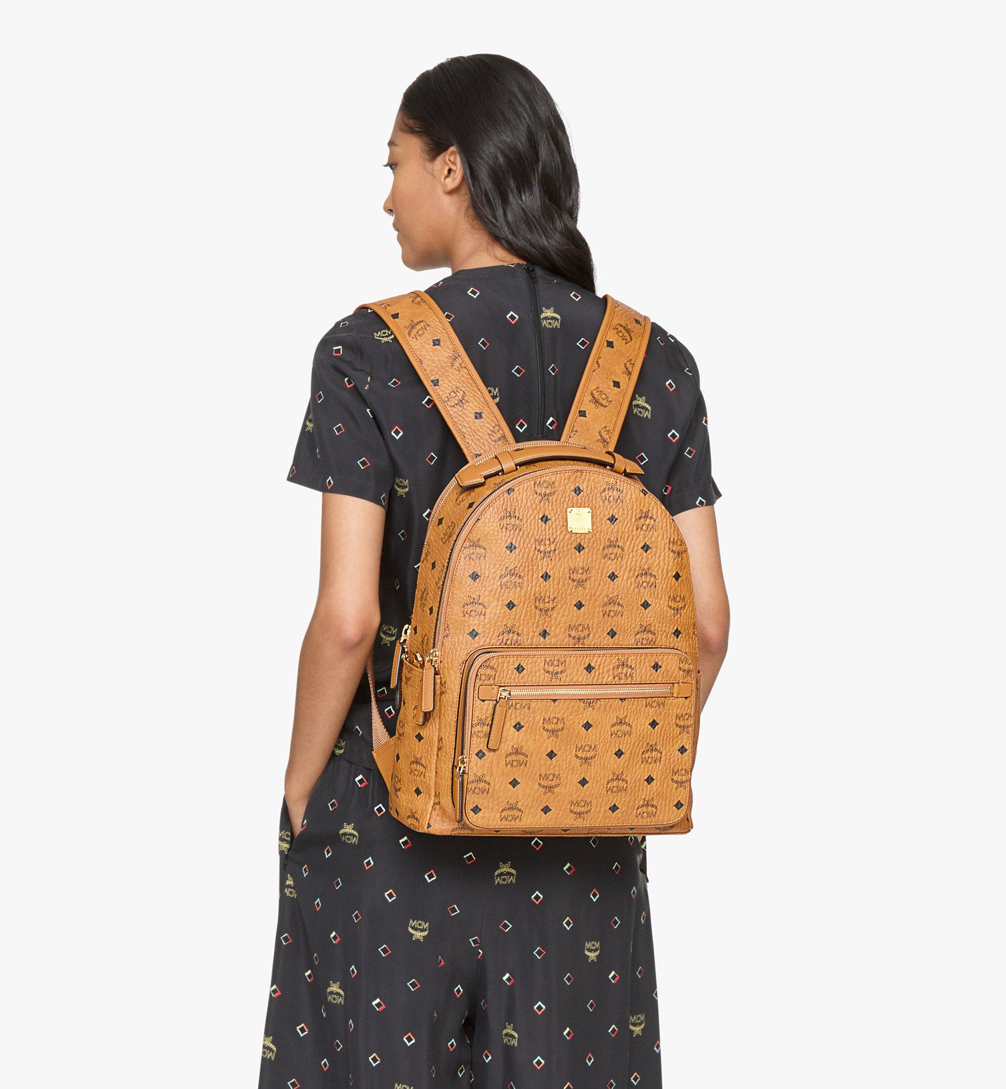 MCM Stark Backpack in Visetos Cognac MMKASVE10CO001 Alternate View 4