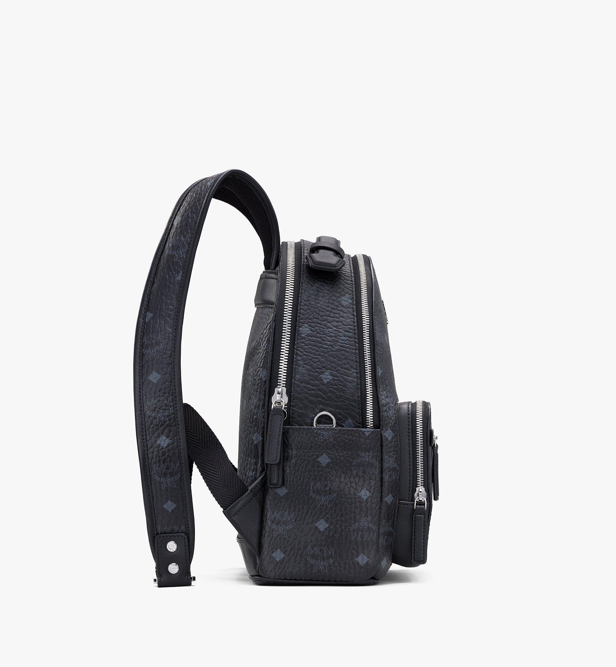 MCM Stark Backpack in Visetos Black MMKASVE11BK001 Alternate View 1