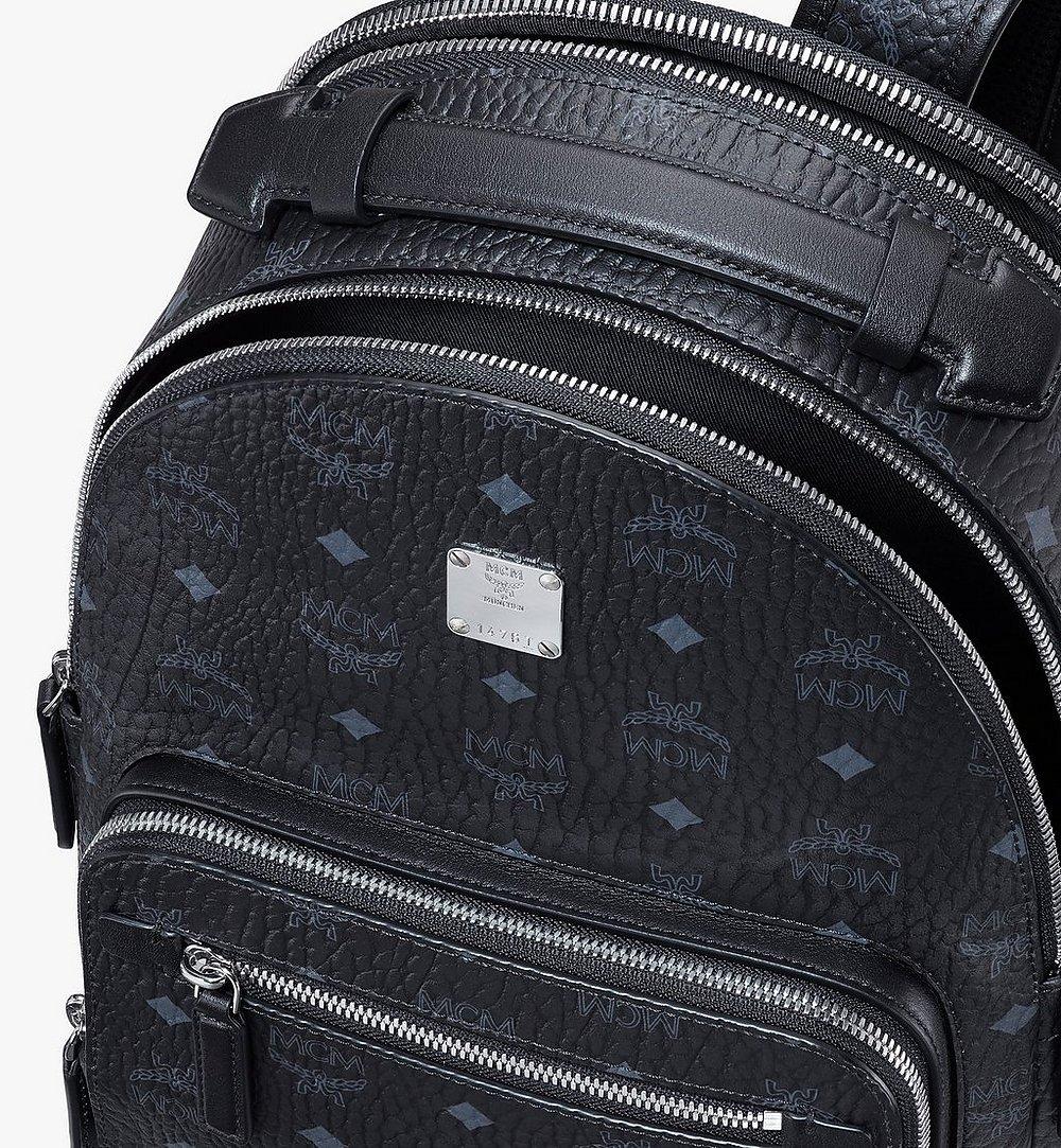 MCM Stark Backpack in Visetos Black MMKASVE11BK001 Alternate View 3