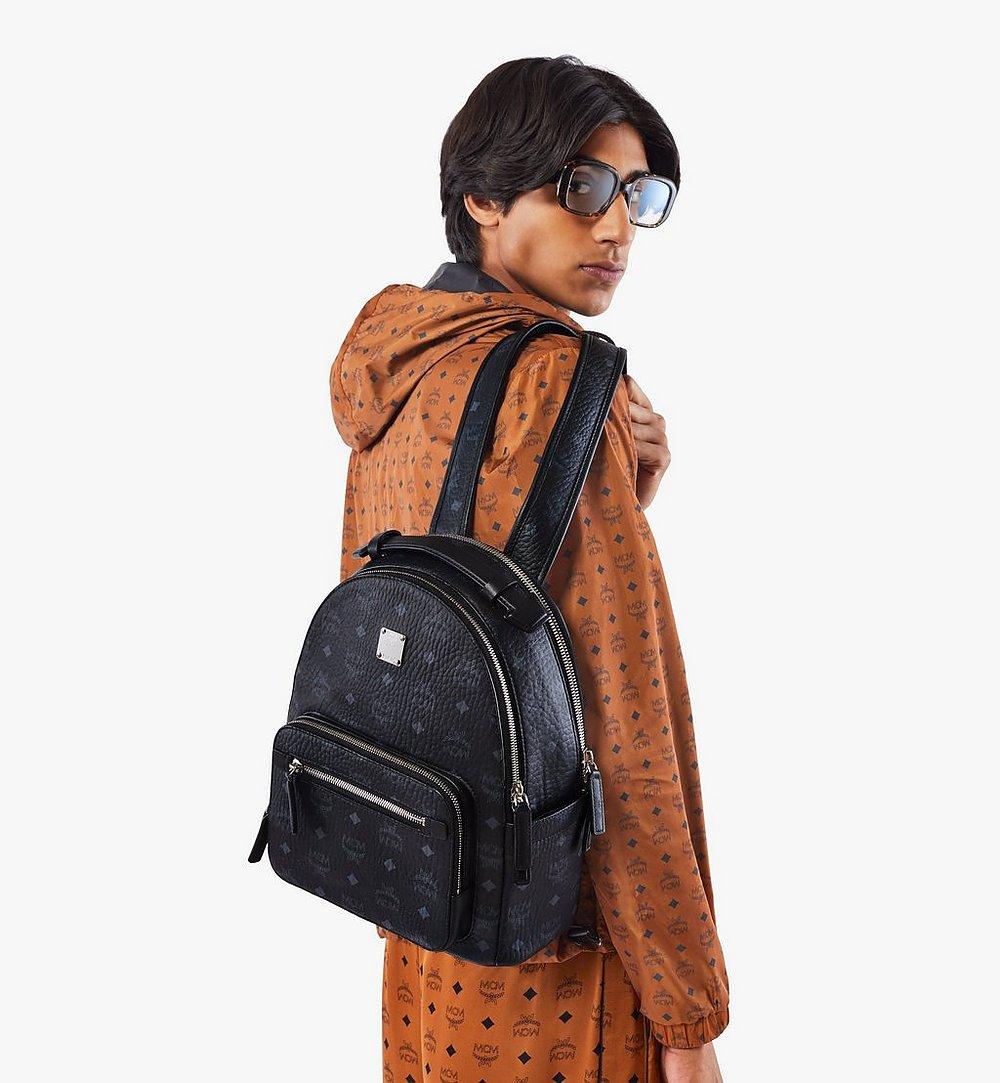 MCM Stark Backpack in Visetos Black MMKASVE11BK001 Alternate View 2
