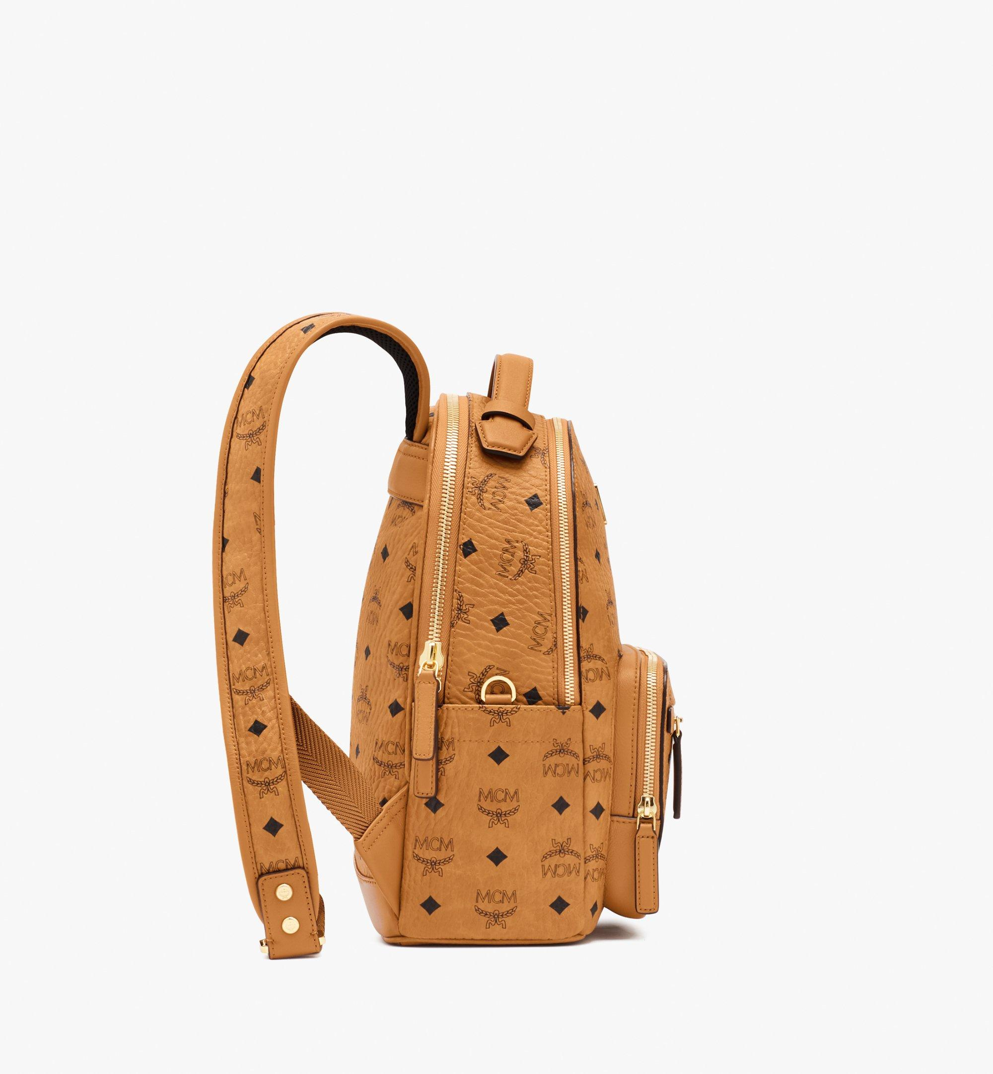 MCM Stark Backpack in Visetos Cognac MMKASVE11CO001 Alternate View 2