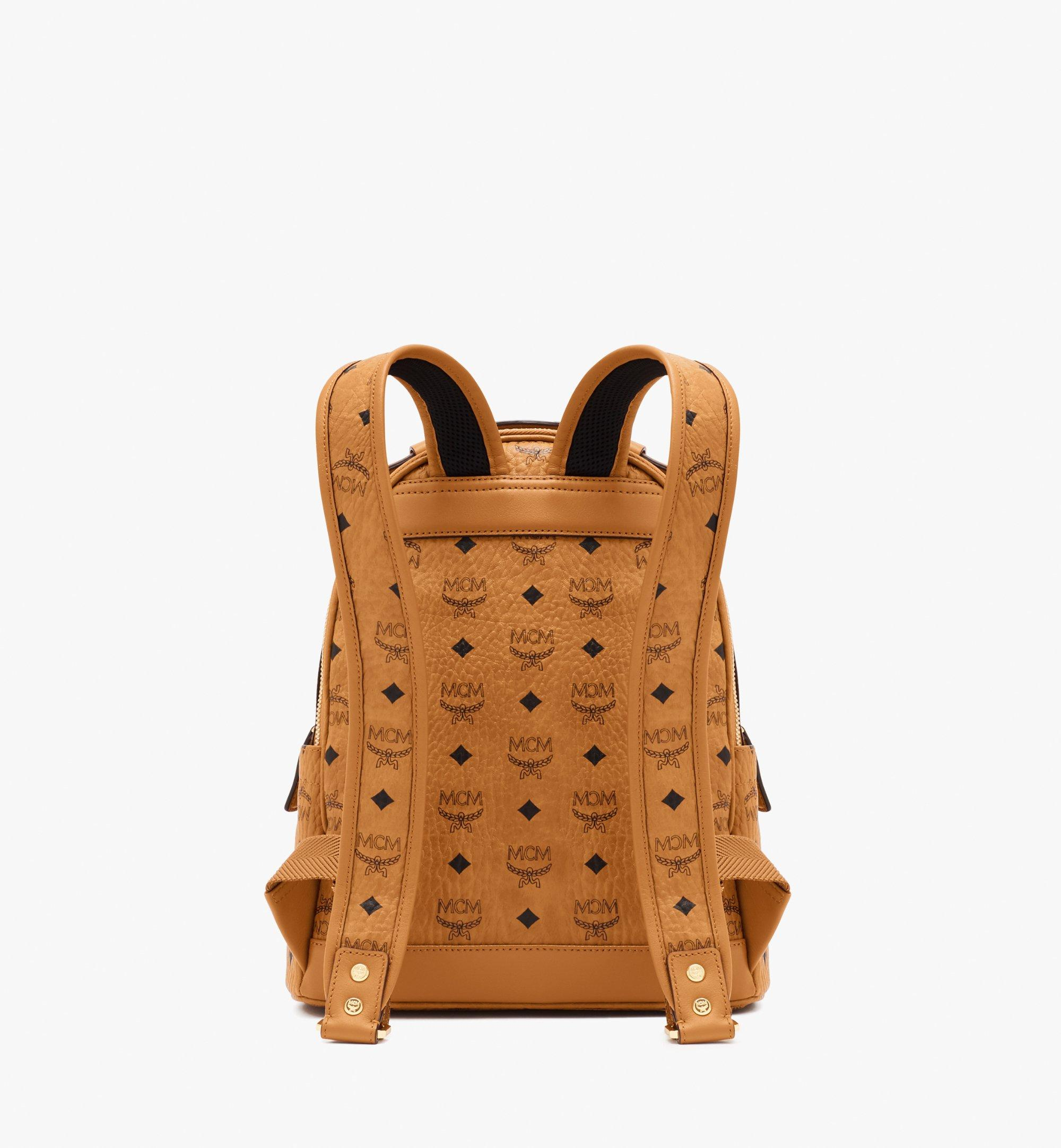 MCM Stark Backpack in Visetos Cognac MMKASVE11CO001 Alternate View 3