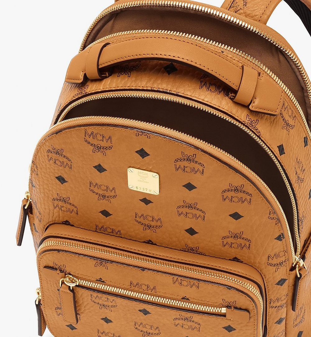 MCM Stark Backpack in Visetos Cognac MMKASVE11CO001 Alternate View 3