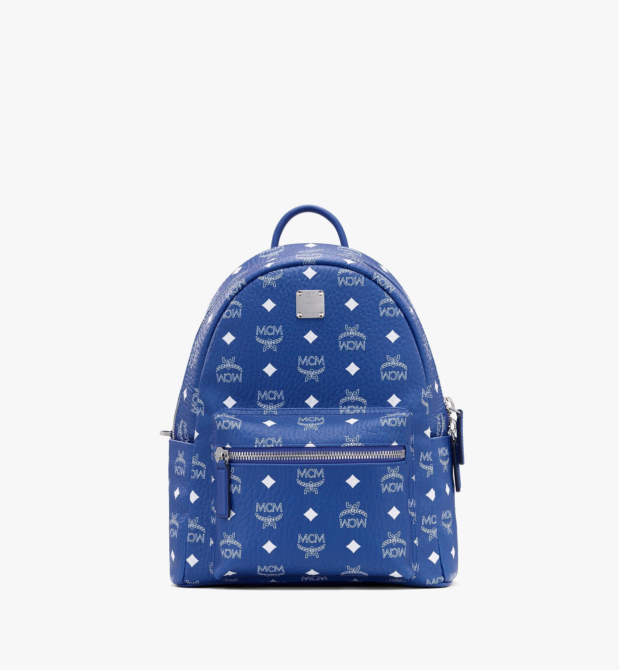 MCM Stark Backpack in Visetos Blue MMKASVE12H1001 Alternate View 1