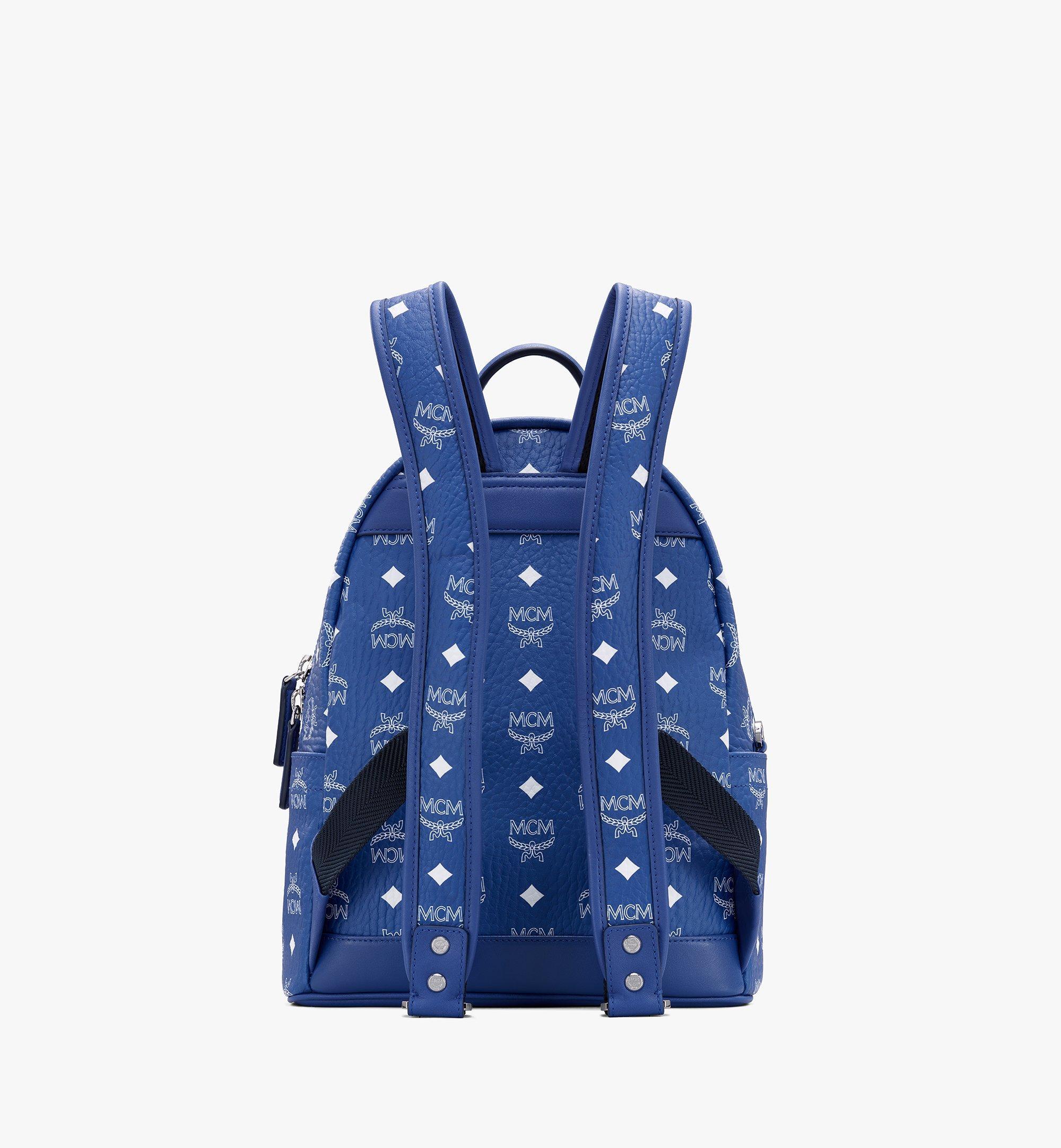 MCM Stark Backpack in Visetos Blue MMKASVE12H1001 Alternate View 3