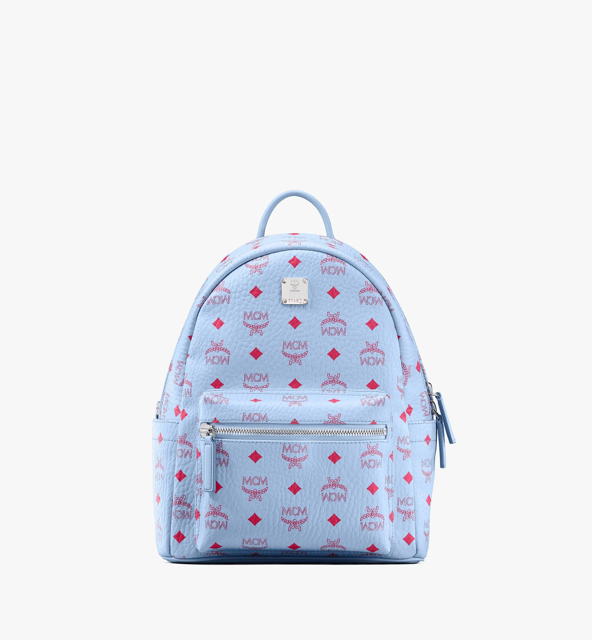 MCM Stark Backpack in Visetos Blue MMKASVE12H2001 Alternate View 1