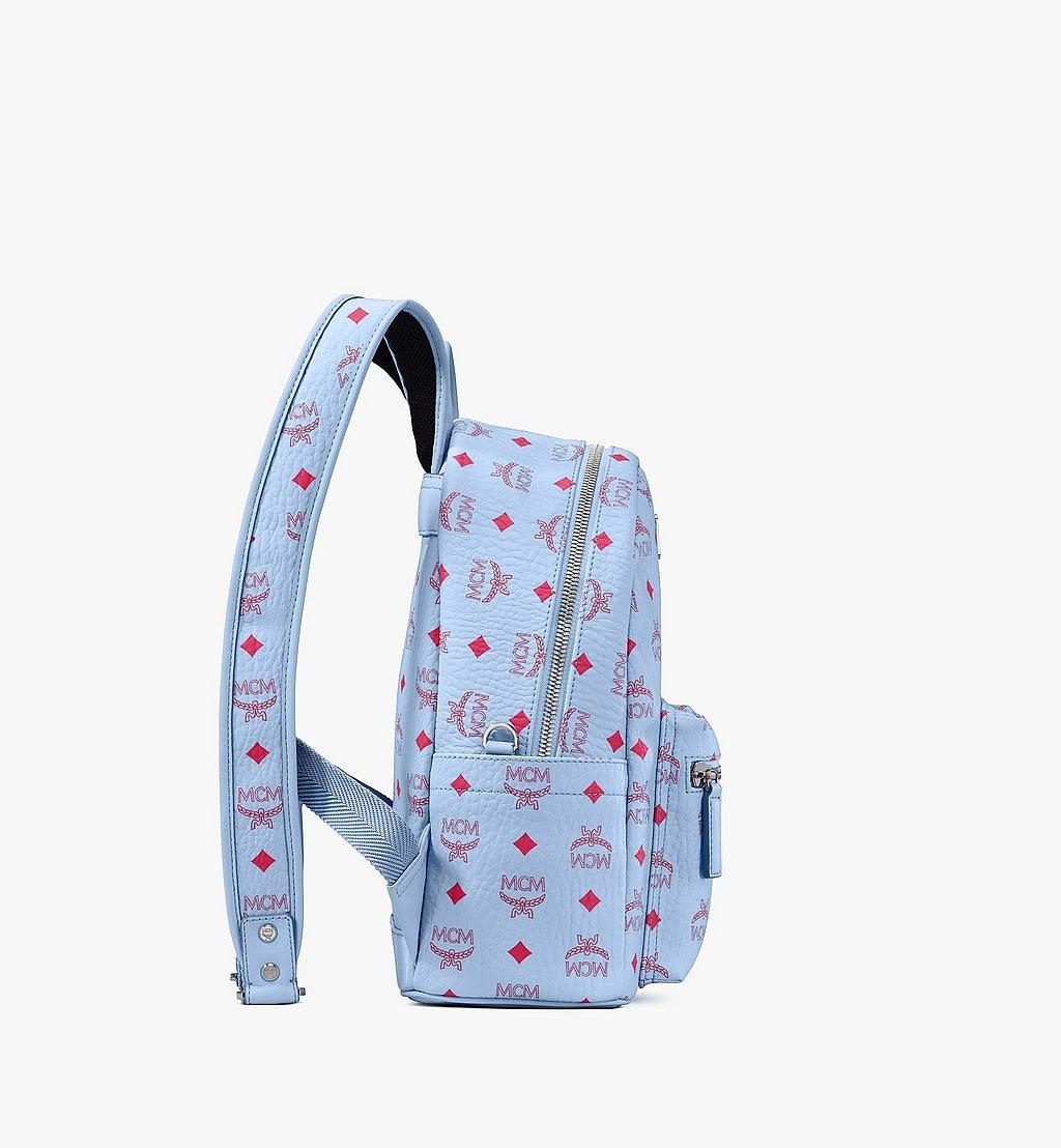 MCM Stark Backpack in Visetos Blue MMKASVE12H2001 Alternate View 1