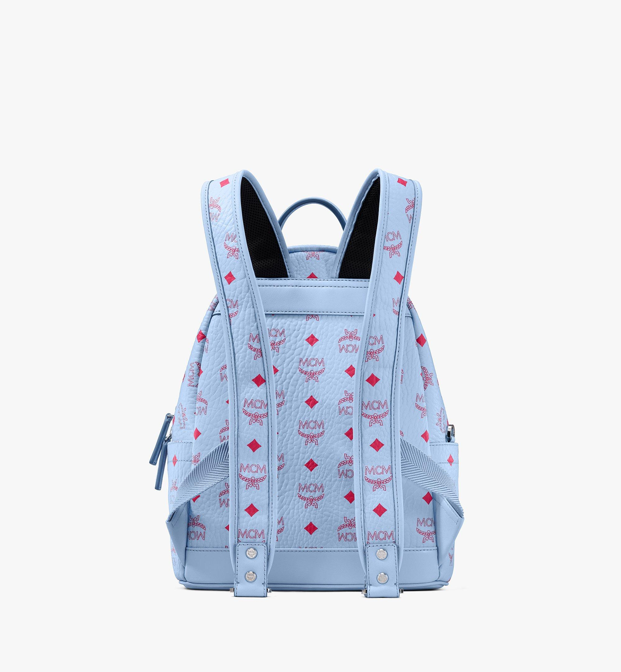 MCM Stark Backpack in Visetos Blue MMKASVE12H2001 Alternate View 3