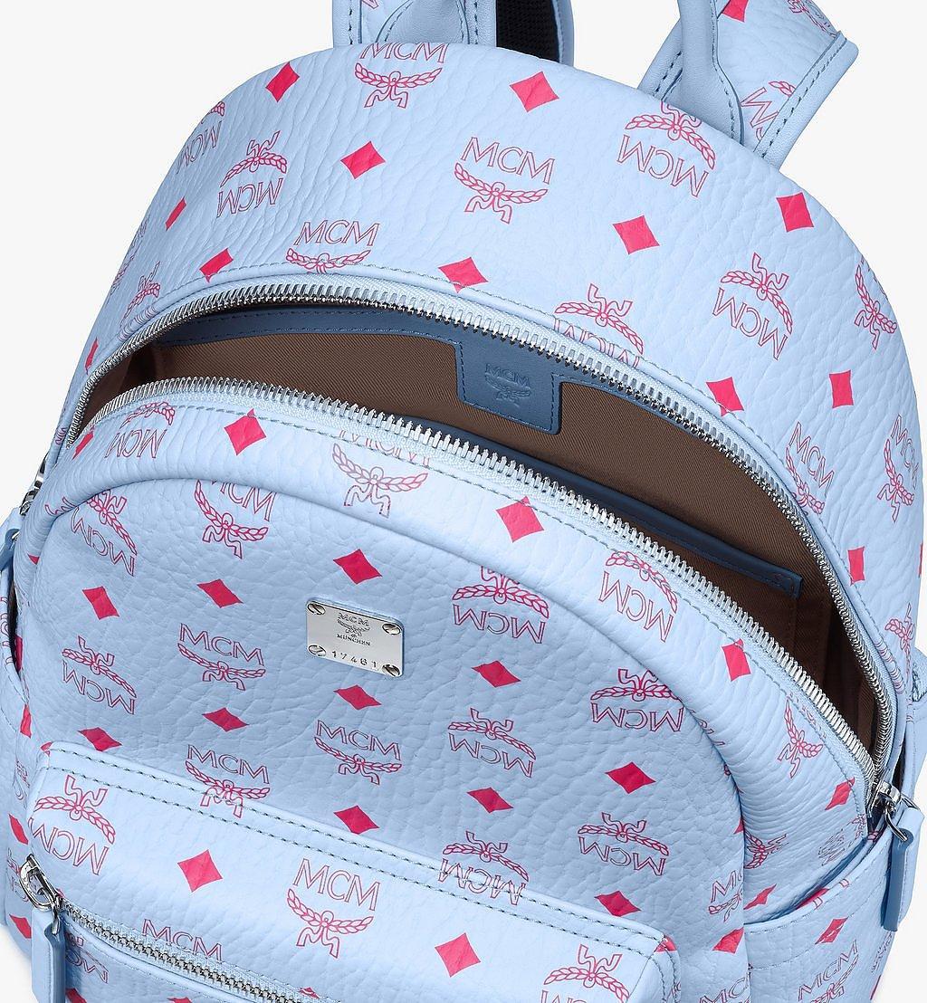 MCM Stark Backpack in Visetos Blue MMKASVE12H2001 Alternate View 3