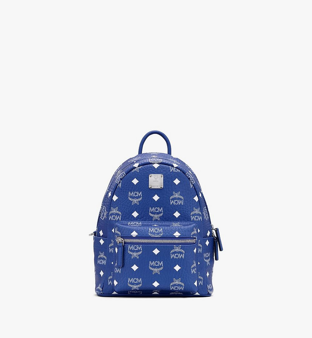 MCM Stark Backpack in Visetos Blue MMKASVE13H1001 Alternate View 1