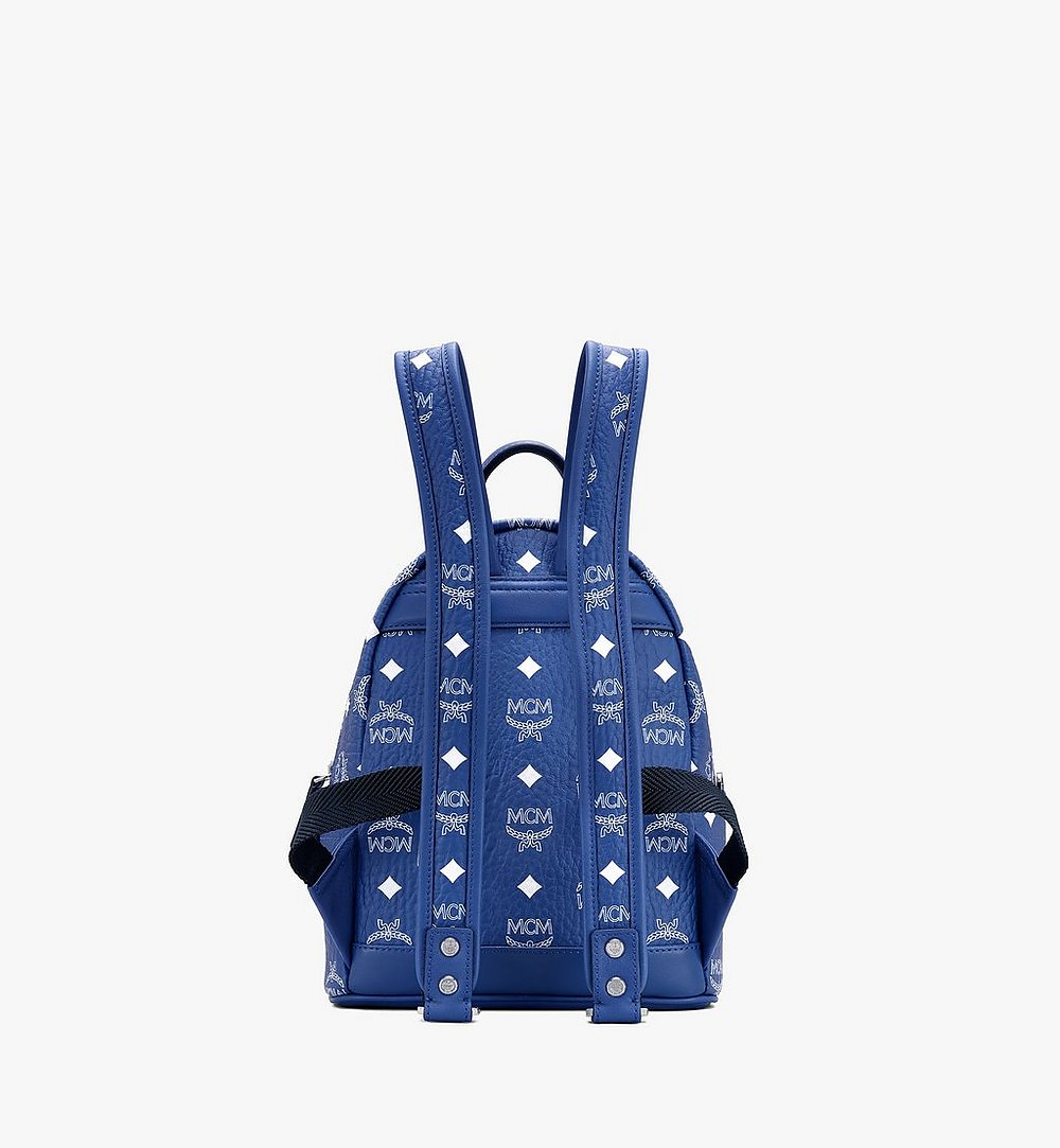MCM Stark Backpack in Visetos Blue MMKASVE13H1001 Alternate View 2