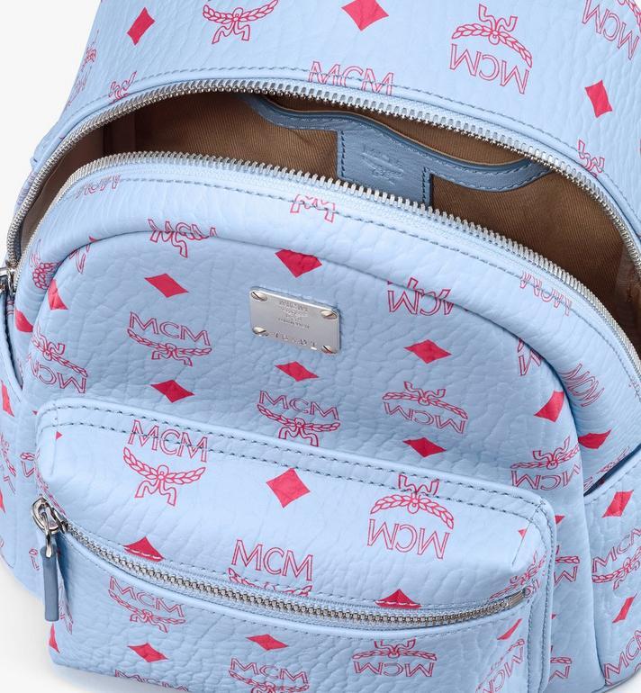 MCM Stark Backpack in Visetos Blue MMKASVE13H2001 Alternate View 4