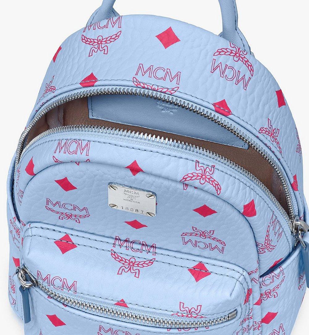 MCM Stark Backpack in Visetos Blue MMKASVE14H2001 Alternate View 3