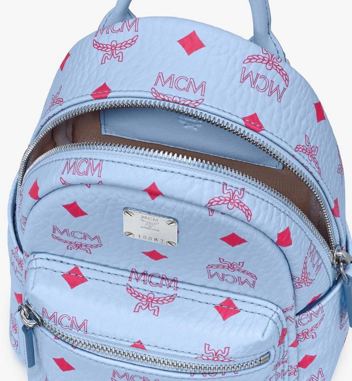 MCM Stark Bebo Boo Backpack in Visetos Blue MMKASVE14H2001 Alternate View 4