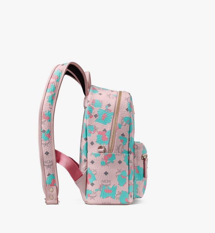 MCM Sac à dos Stark à imprimé léopard floral Pink MMKASVE22QI001 Alternate View 2