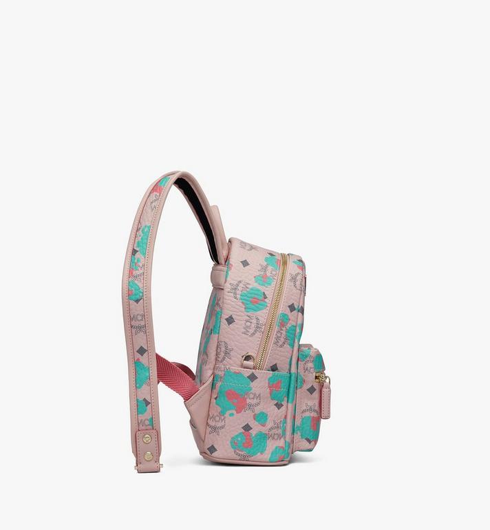 MCM Stark Backpack in Floral Leopard Pink MMKASVE23QI001 Alternate View 2