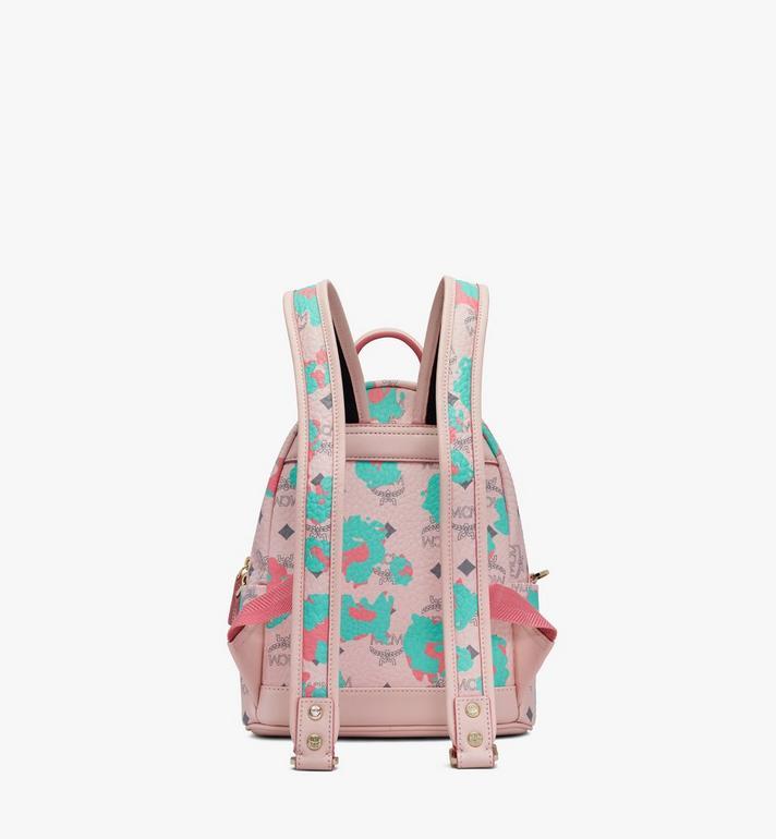 MCM Stark Backpack in Floral Leopard Pink MMKASVE23QI001 Alternate View 3