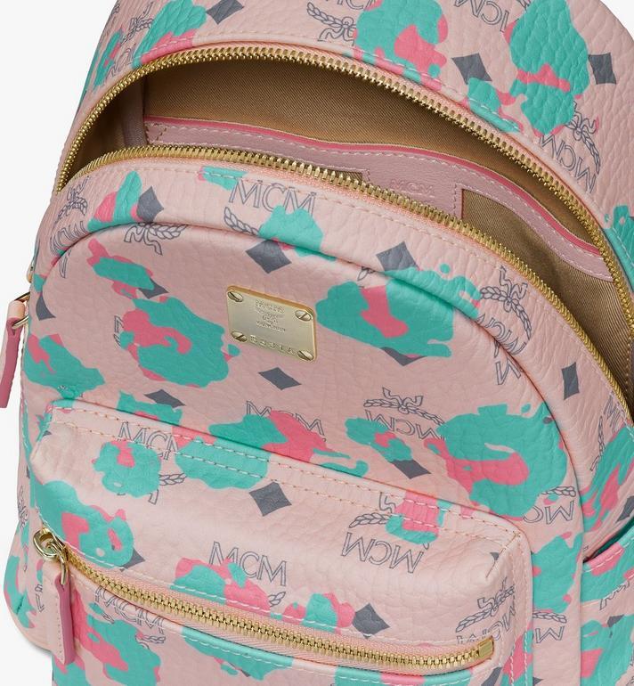 MCM Stark Backpack in Floral Leopard Pink MMKASVE23QI001 Alternate View 4