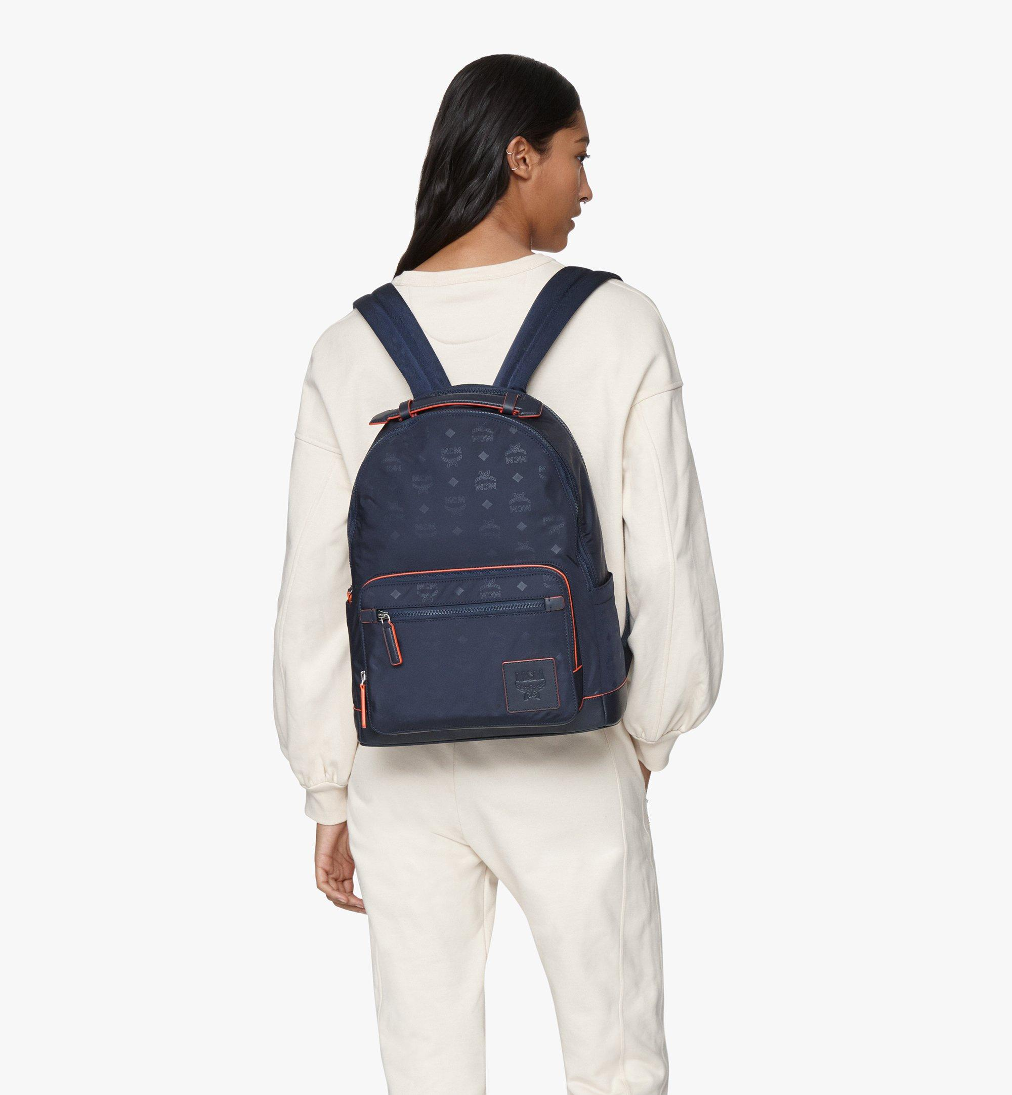 MCM Stark Backpack in Monogram Nylon Navy MMKASVE24VA001 Alternate View 3