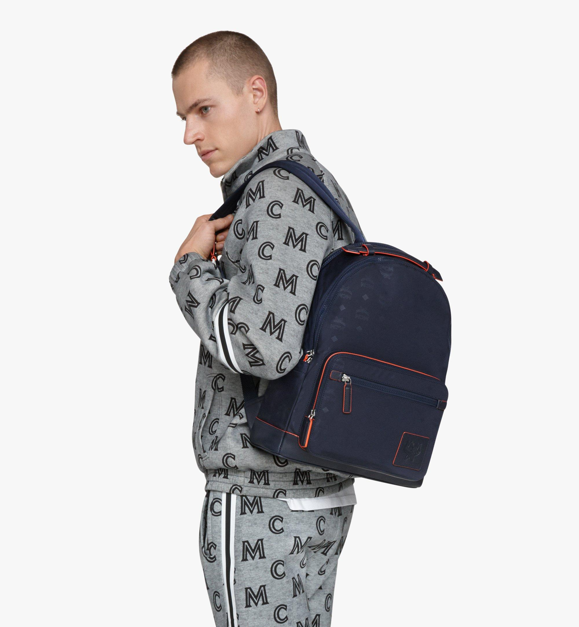 MCM Stark Backpack in Monogram Nylon Navy MMKASVE24VA001 Alternate View 2