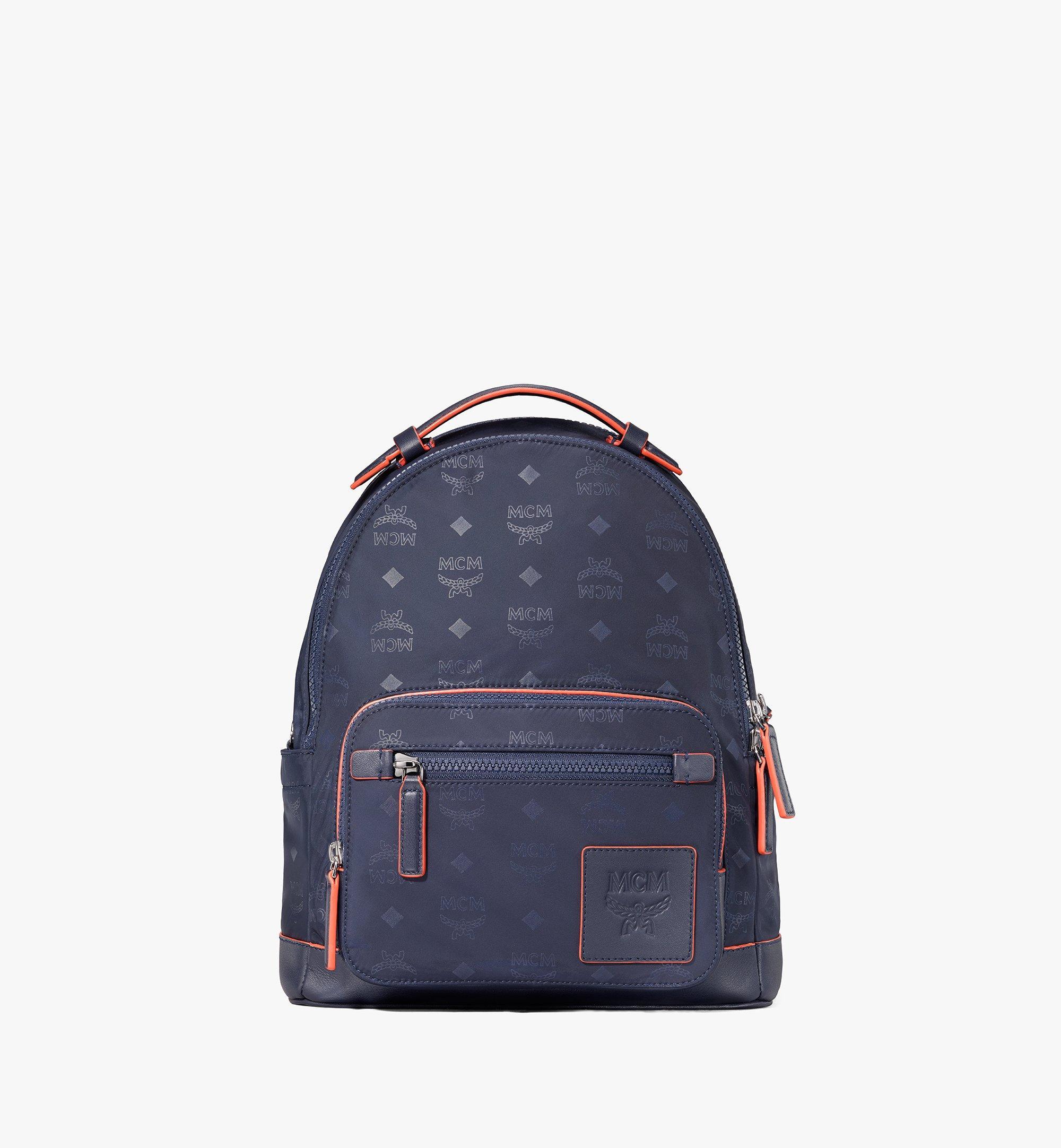 MCM Stark Backpack in Monogram Nylon Navy MMKASVE25VA001 Alternate View 1