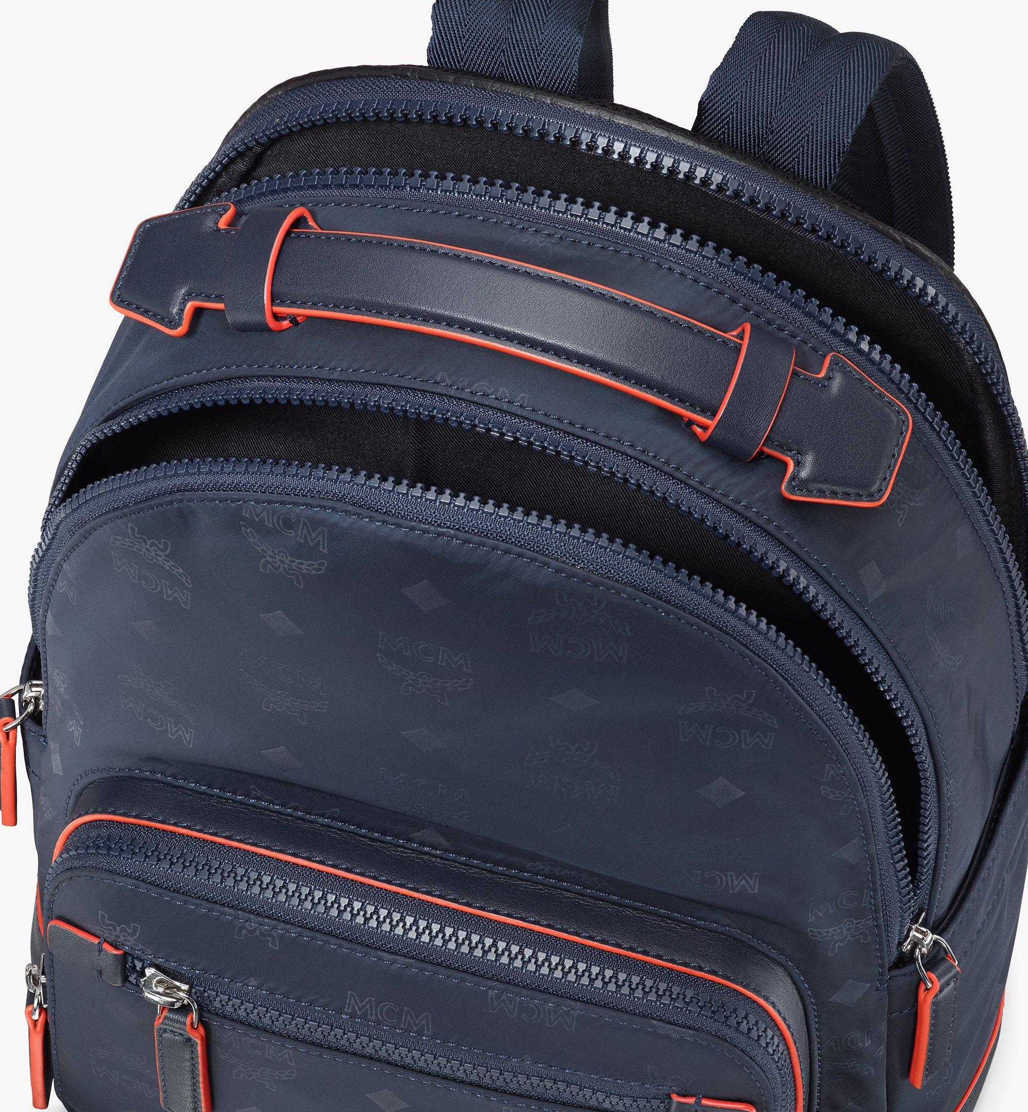 MCM Stark Backpack in Monogram Nylon Navy MMKASVE25VA001 Alternate View 3