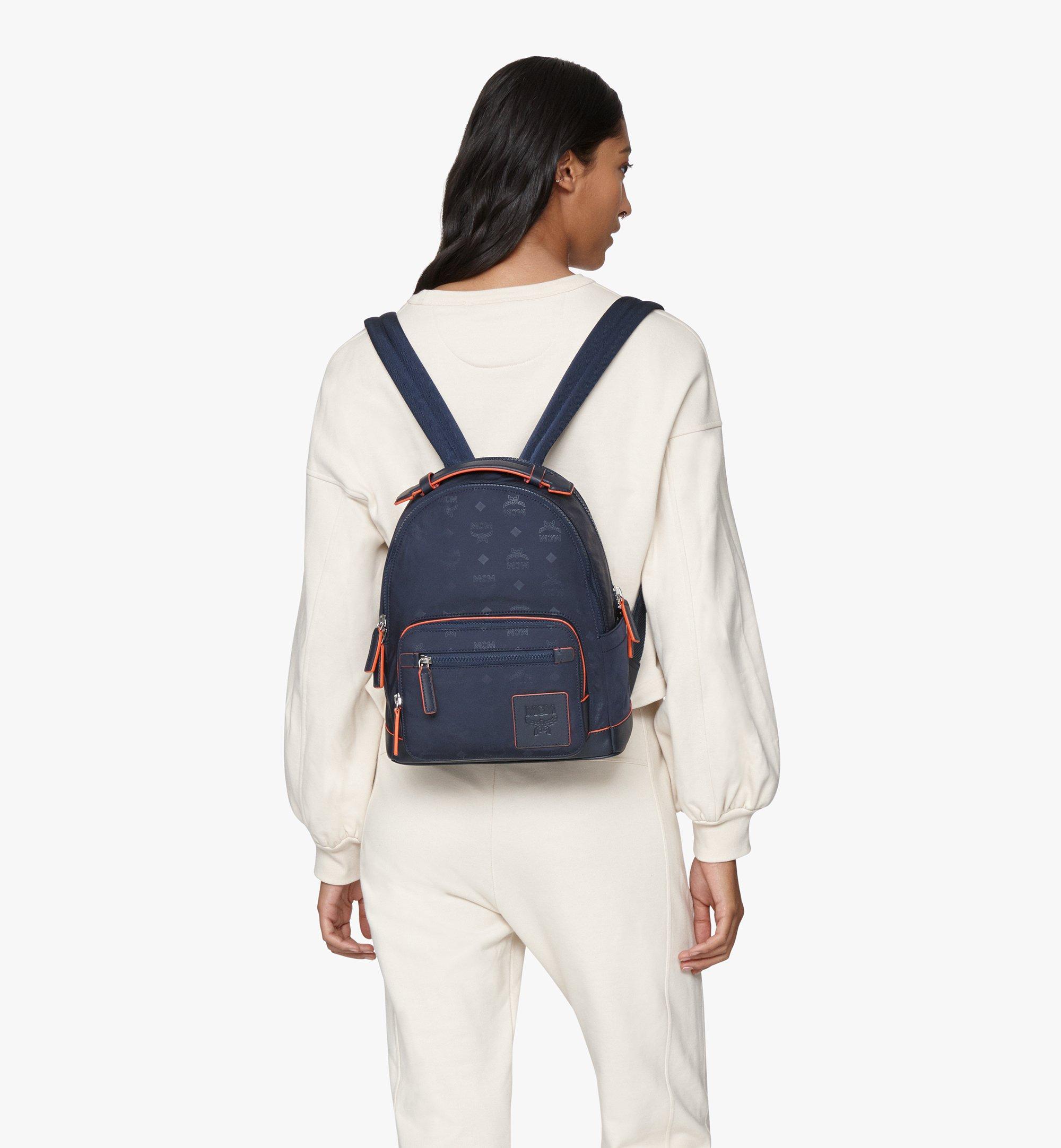 MCM Stark Backpack in Monogram Nylon Navy MMKASVE25VA001 Alternate View 2