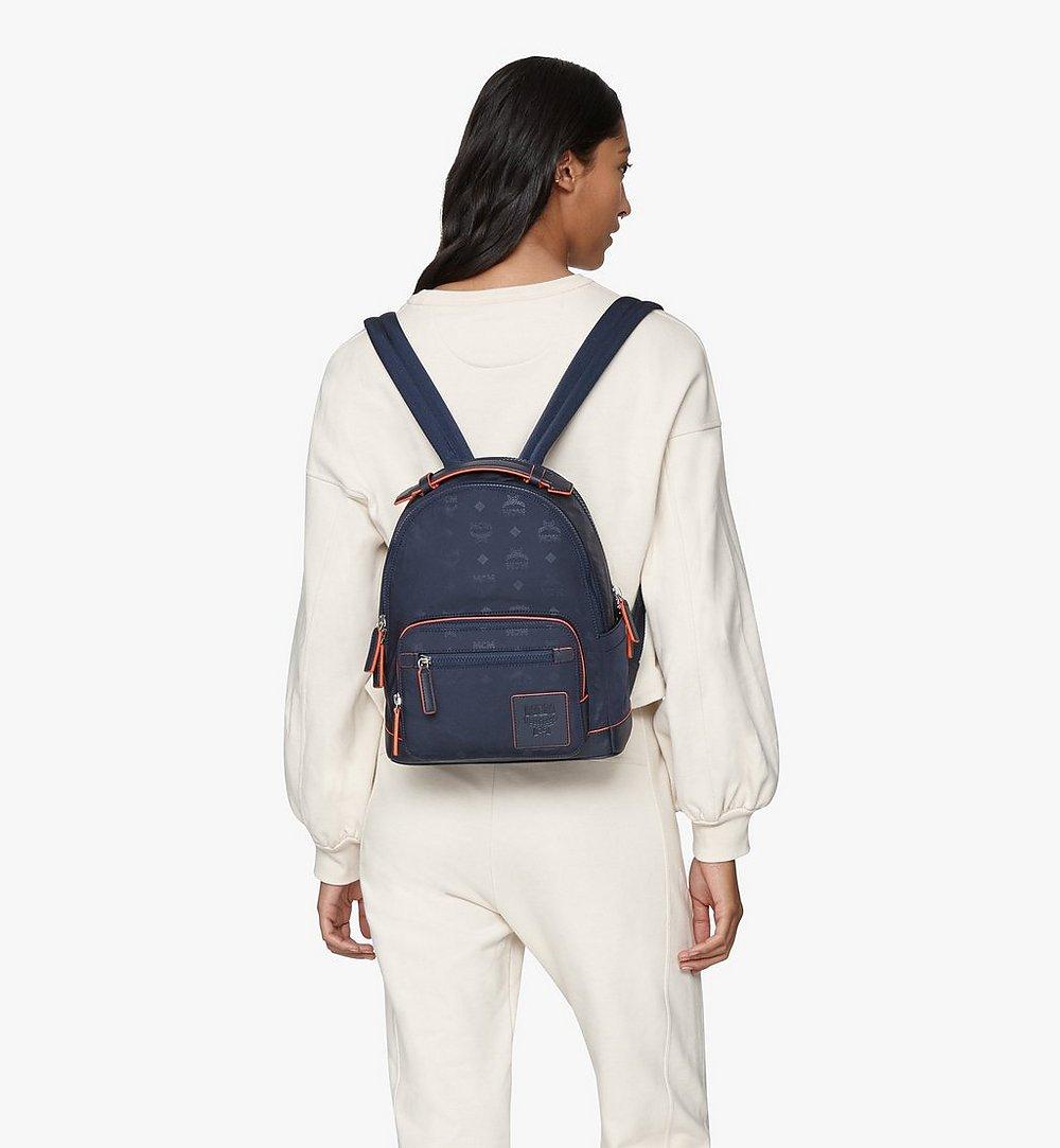 MCM Stark Backpack in Monogram Nylon Blue MMKASVE25VA001 Alternate View 2