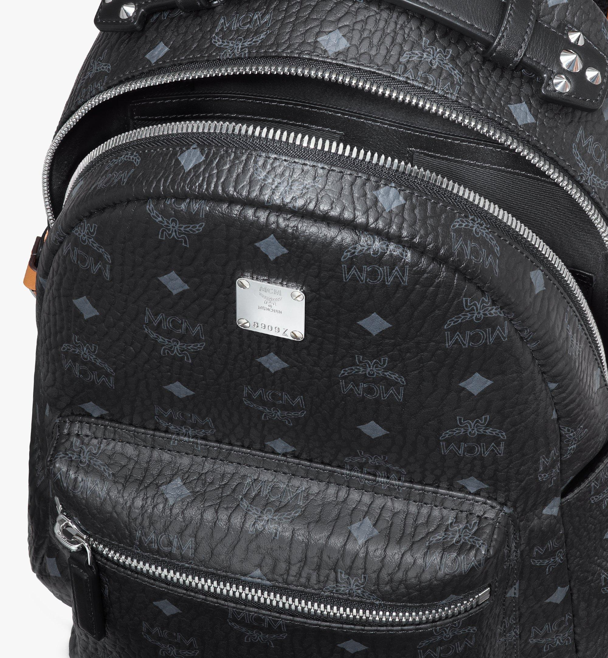 MCM Stark Backpack in Visetos Black MMKASVE26BK001 Alternate View 4