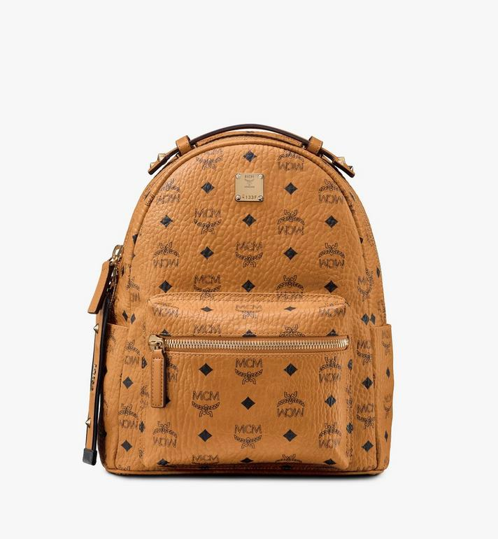 MCM Stark Backpack in Visetos Cognac MMKASVE27CO001 Alternate View 1