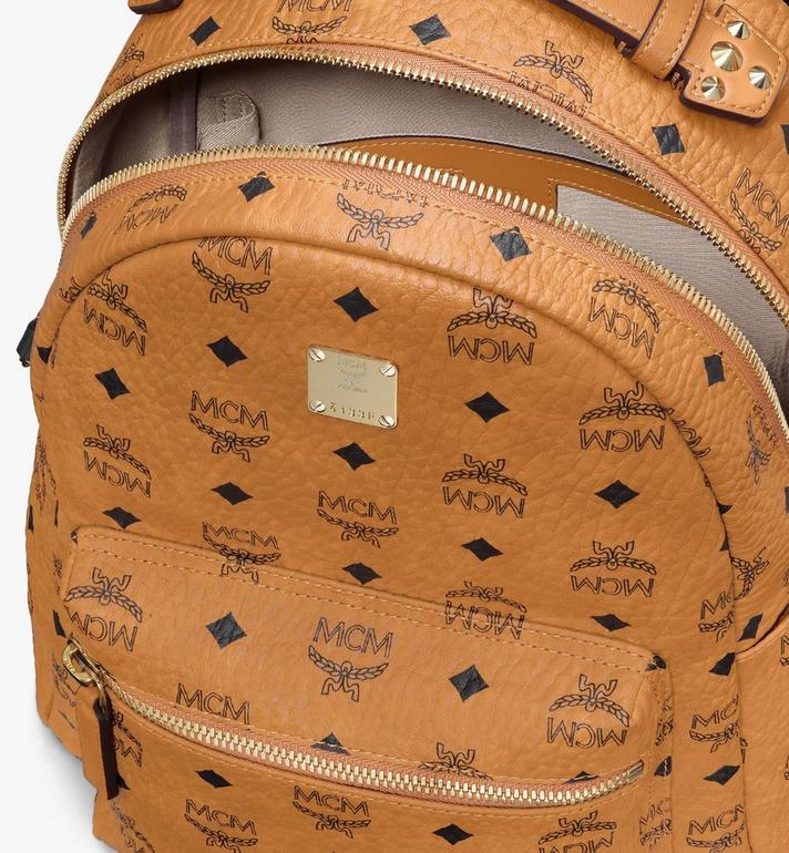 MCM Stark Backpack in Visetos Cognac MMKASVE27CO001 Alternate View 4