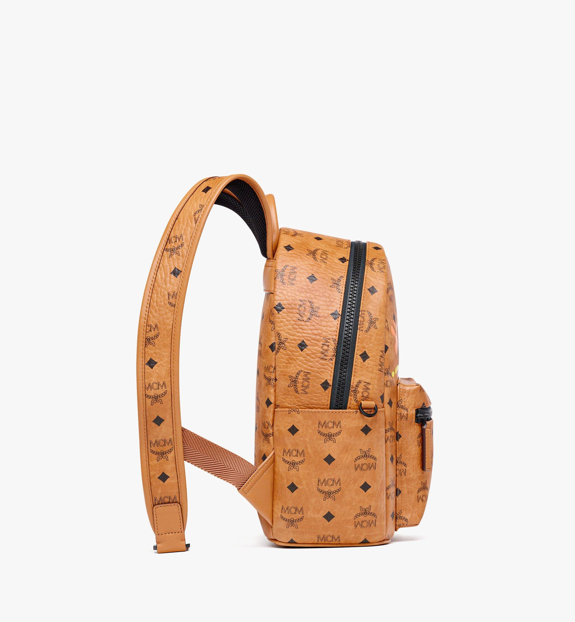 MCM MCM x SAMBYPEN Stark in Visetos 背包 Cognac MMKBASP01CO001 更多視圖 1