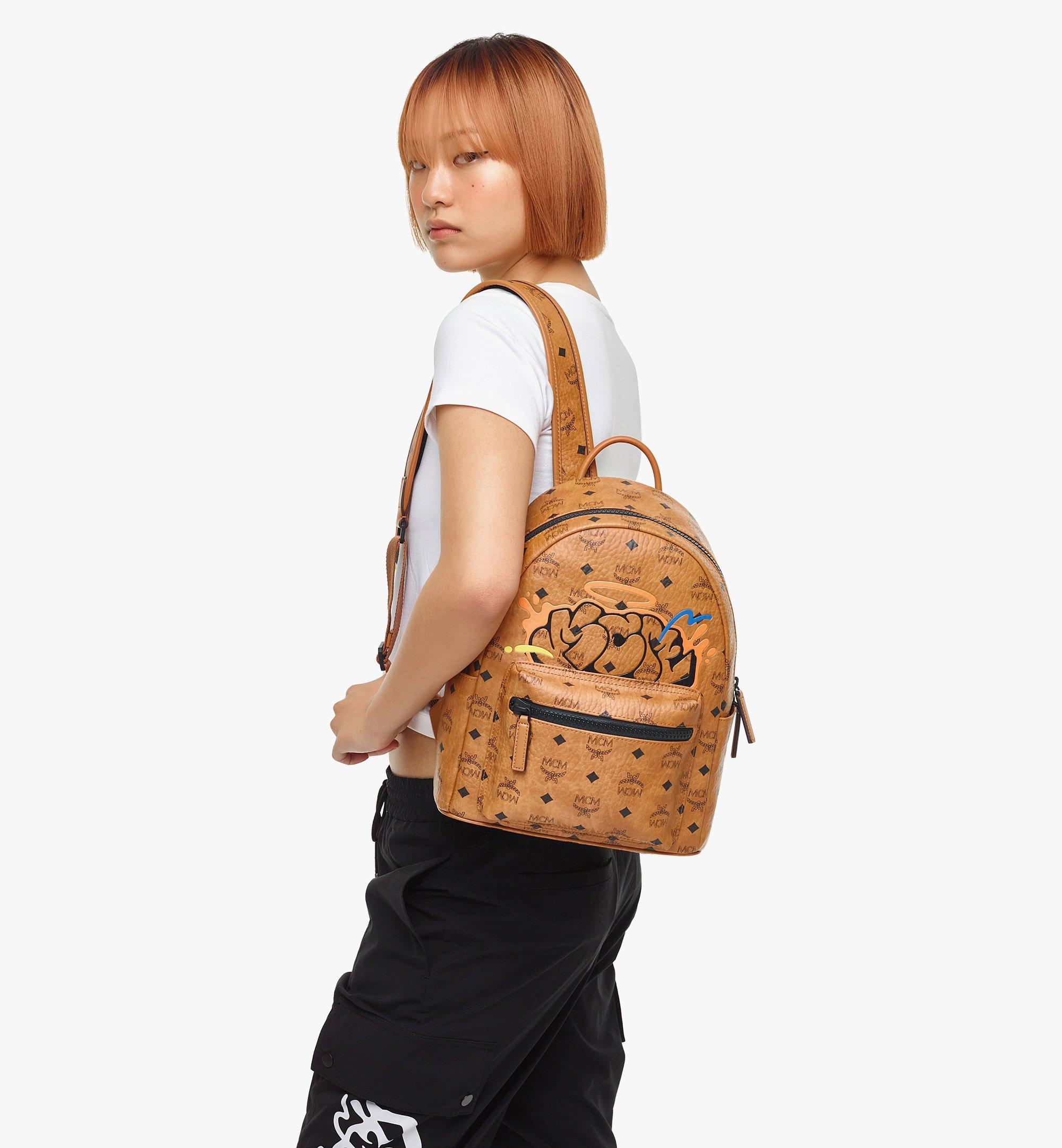 MCM MCM x SAMBYPEN Stark in Visetos 背包 Cognac MMKBASP01CO001 更多視圖 5