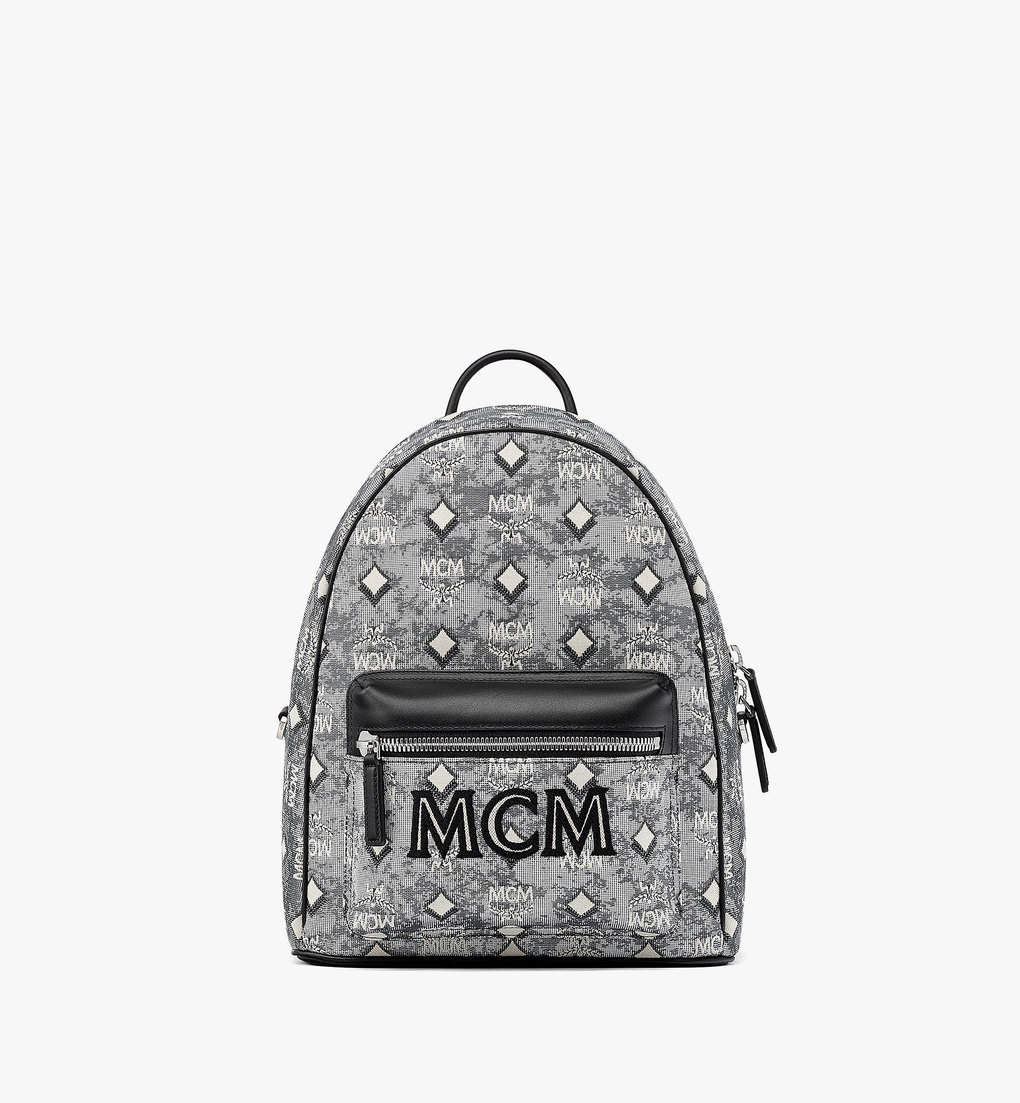 MCM Stark Vintage Jacquard Monogram 双肩背包 Grey MMKBATQ01EG001 更多视角 1