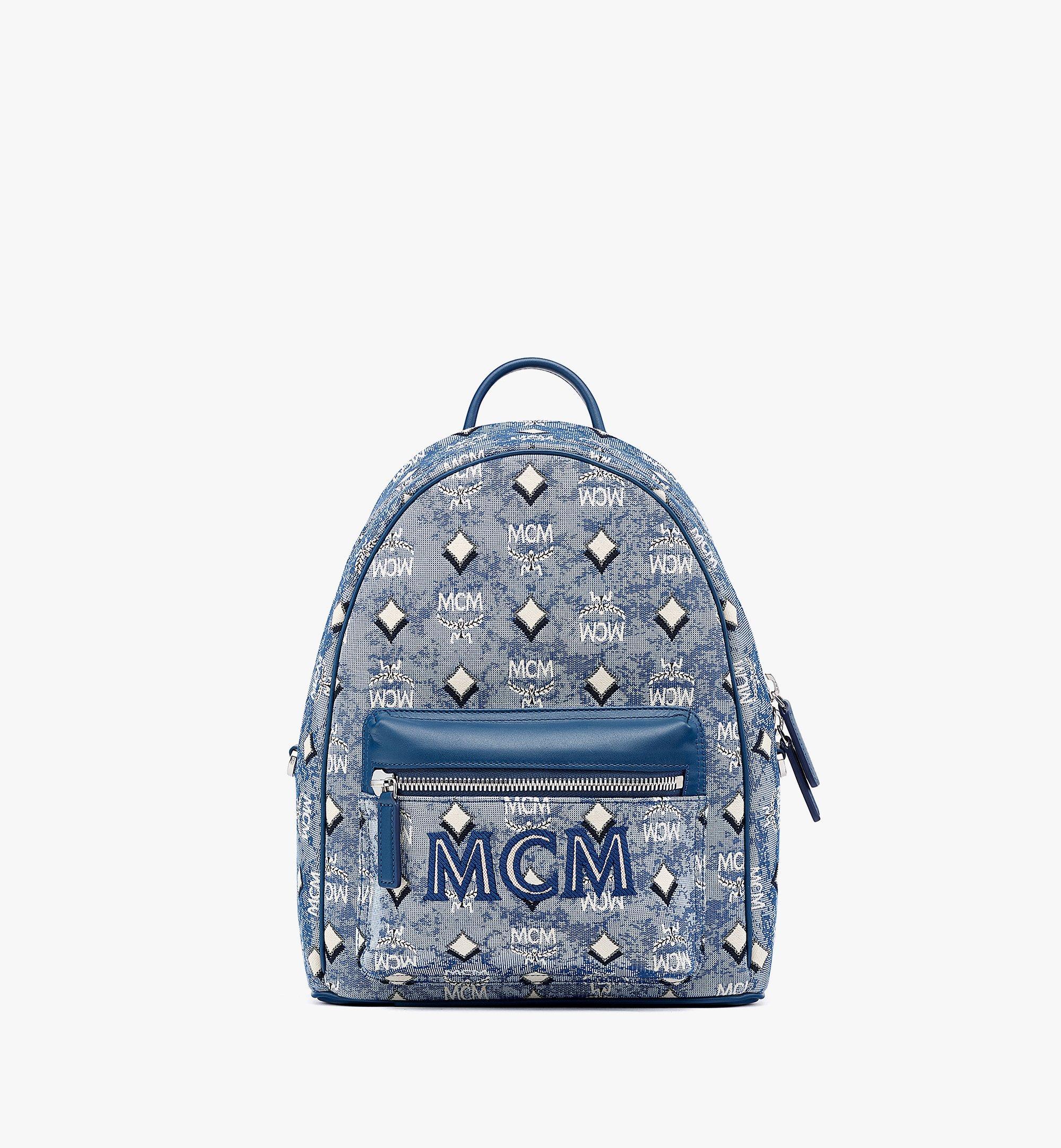 MCM Stark Rucksack aus Vintage-Jacquard mit Monogramm Blue MMKBATQ01LU001 Noch mehr sehen 1