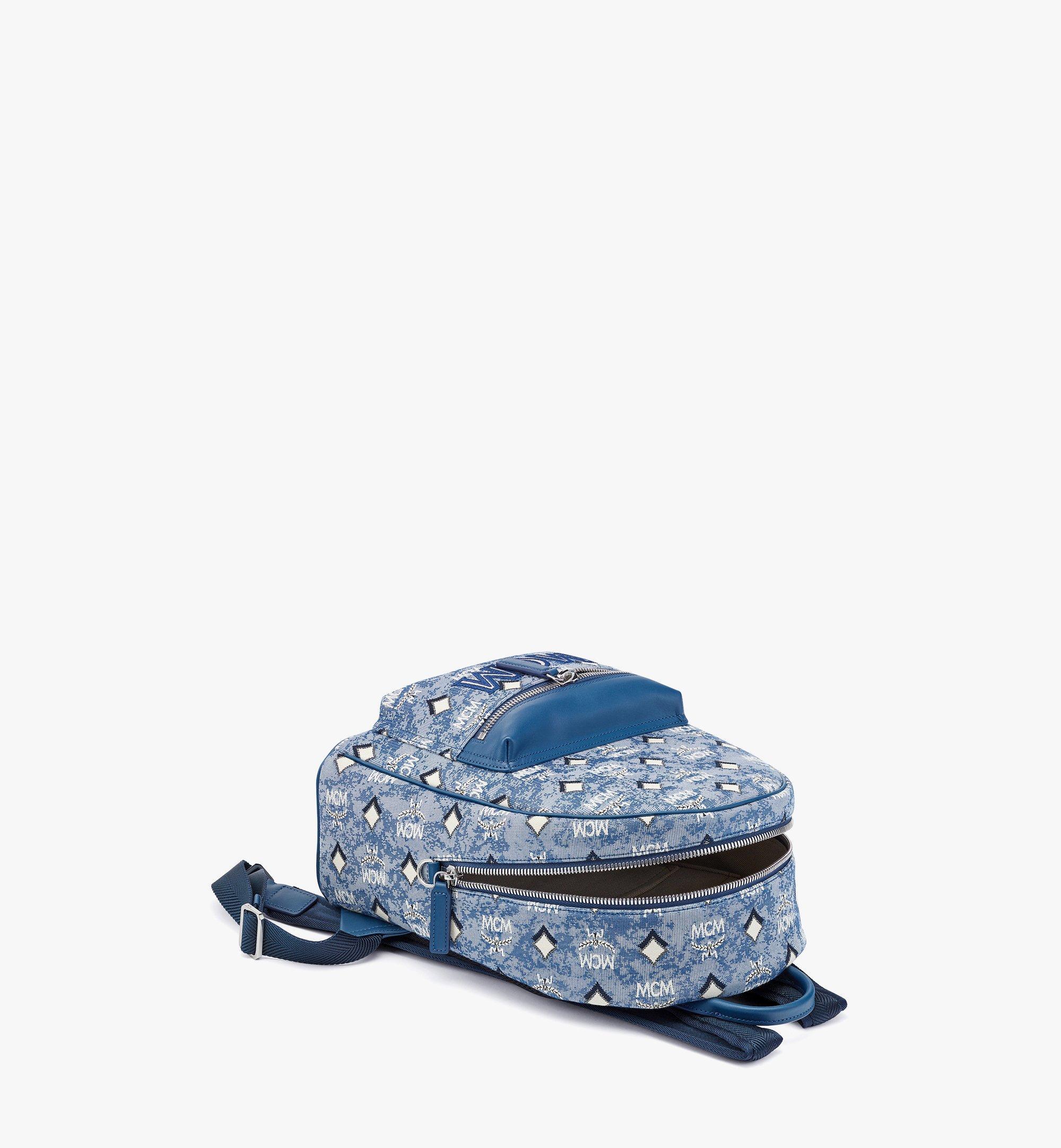 MCM Stark Rucksack aus Vintage-Jacquard mit Monogramm Blue MMKBATQ01LU001 Noch mehr sehen 2