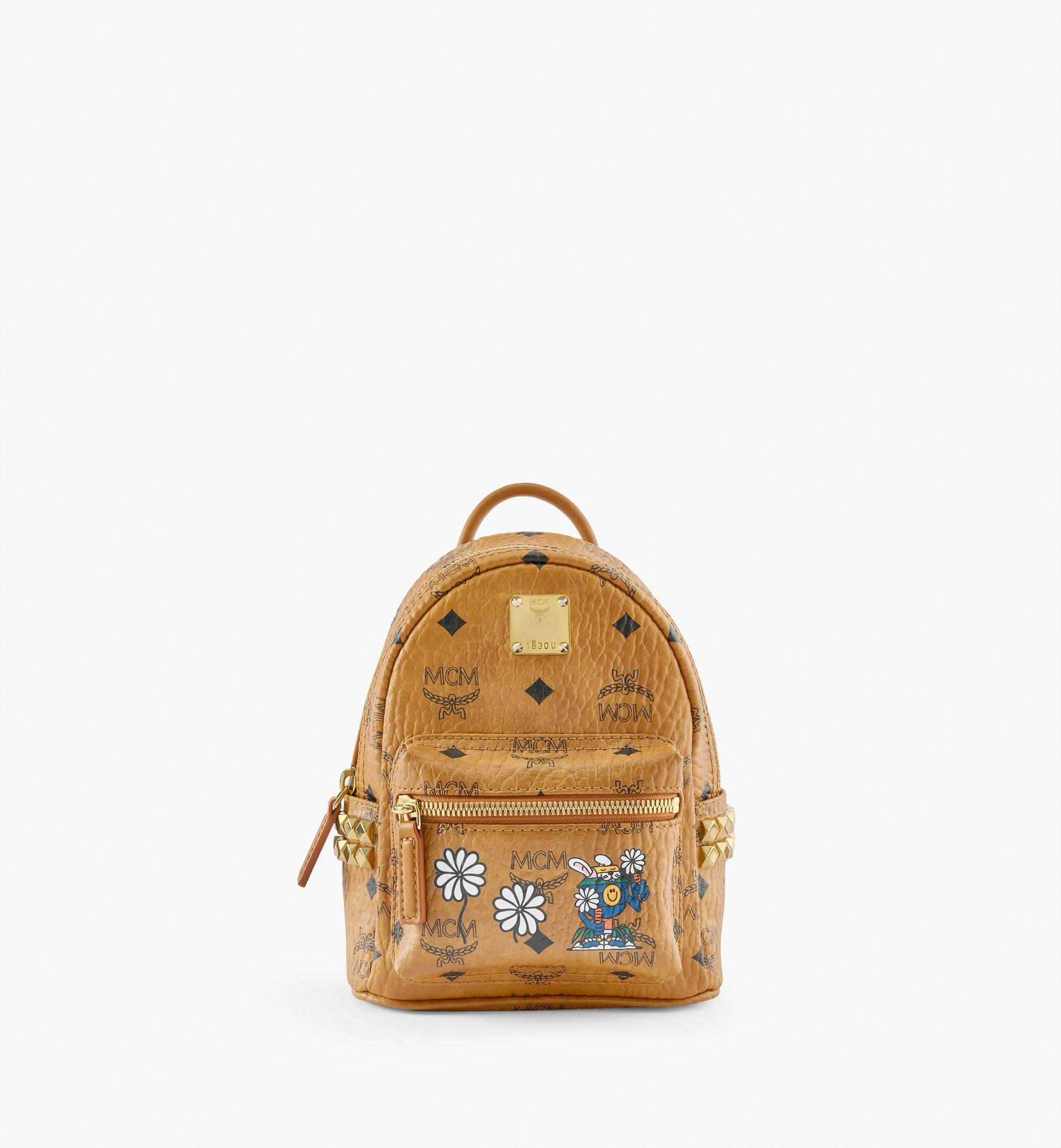 MCM MCM x Aka Boku Stark Bebe Boo Backpack in Visetos Cognac MMKBAUP01CO001 Alternate View 1