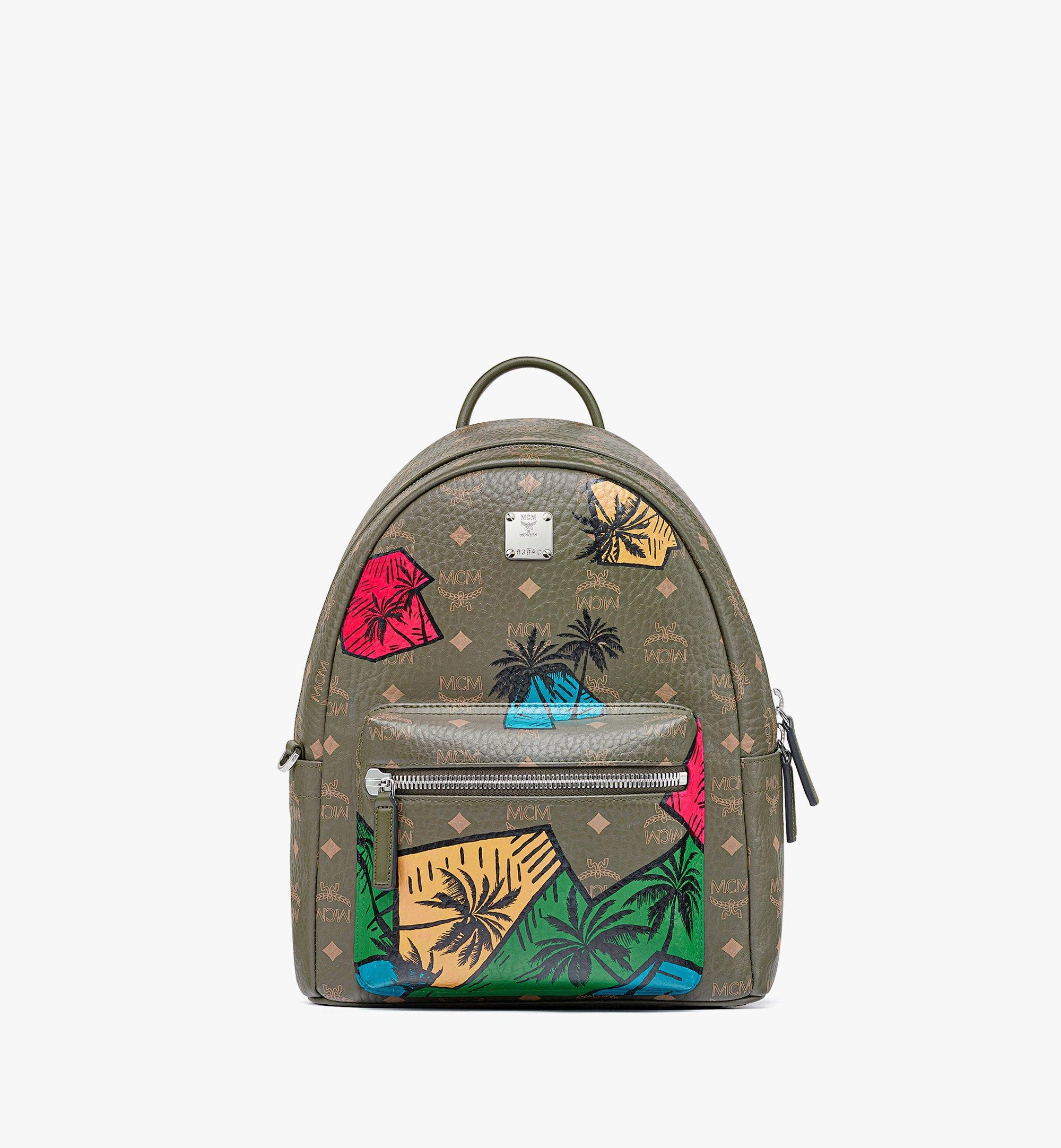 MCM Hawaii Upcycling Project Stark Backpack in Visetos Green MMKBSUP03JH001 Alternate View 1