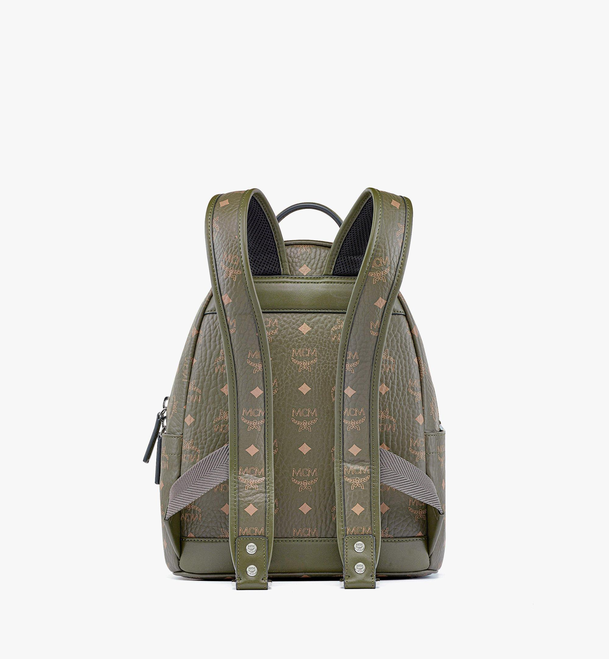 MCM Hawaii Upcycling Project Stark Backpack in Visetos Green MMKBSUP03JH001 Alternate View 3
