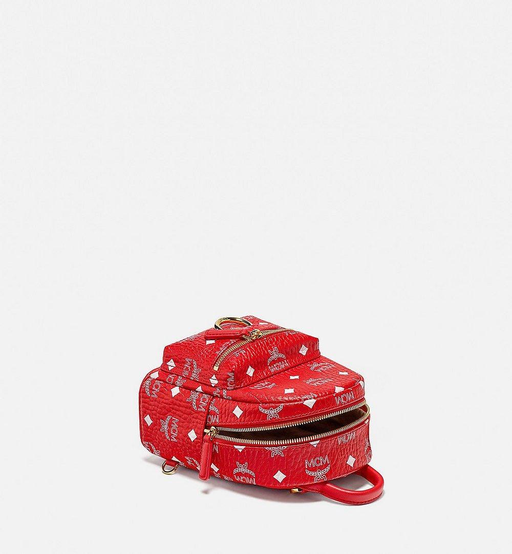 MCM Stark Bebe Boo Backpack in New Year Visetos Red MMKBSVE01AV001 Alternate View 2