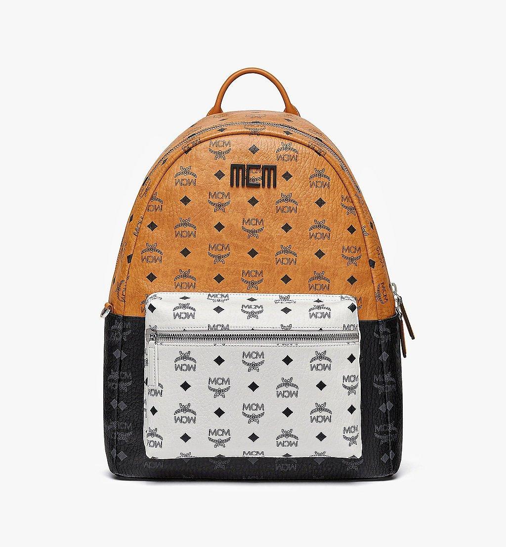 MCM Stark Backpack in Visetos Mix Cognac MMKBSVE02CO001 Alternate View 1